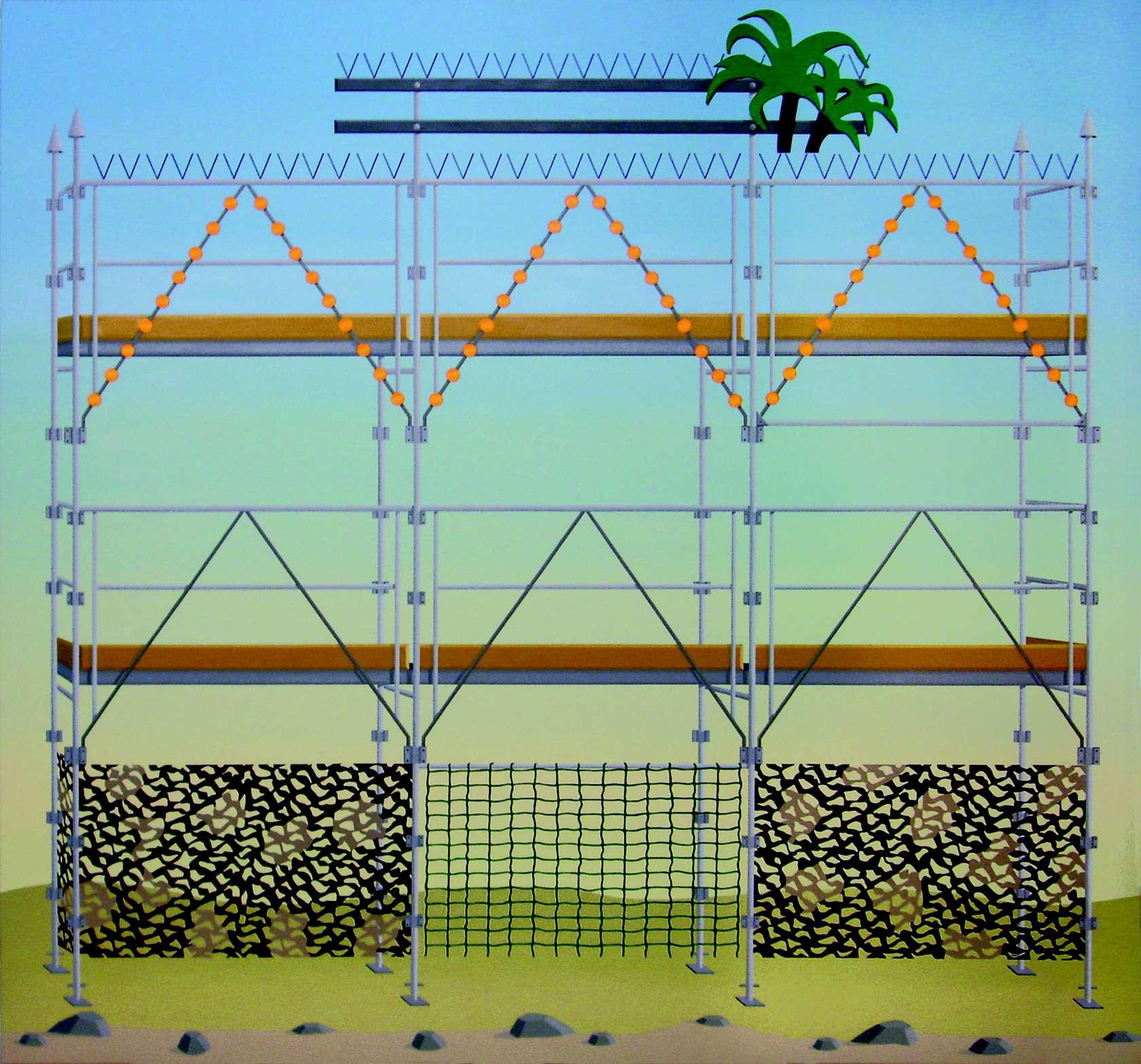 Amélie Bertrand, Sans titre, 2010 Huile sur toile180 x 190cm / 70 7/8 x 74 6/8inches