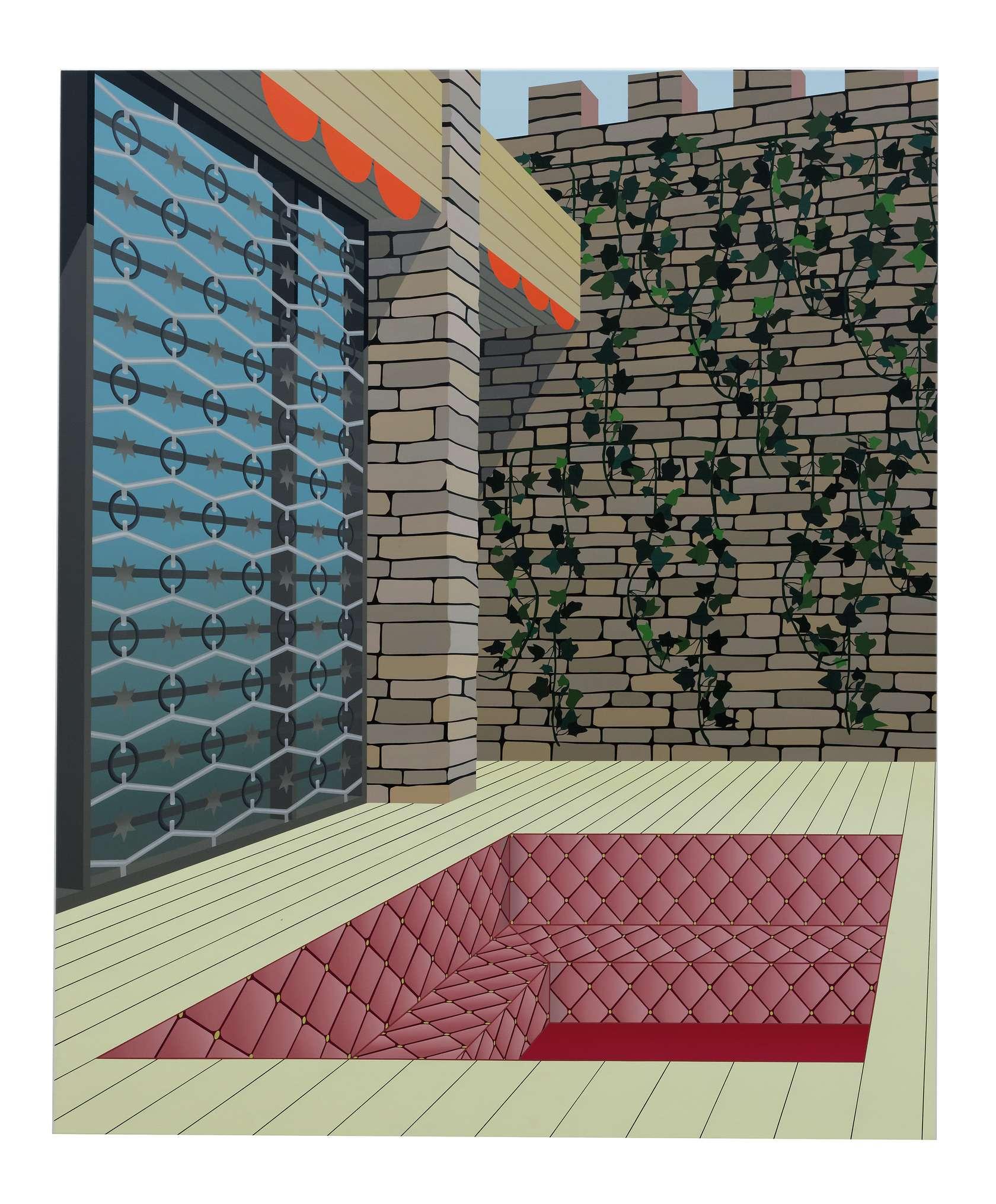Amélie Bertrand, Sans titre, 2012 Huile sur toile170 x 140 cm / 66 7/8 x 55 1/8 inches