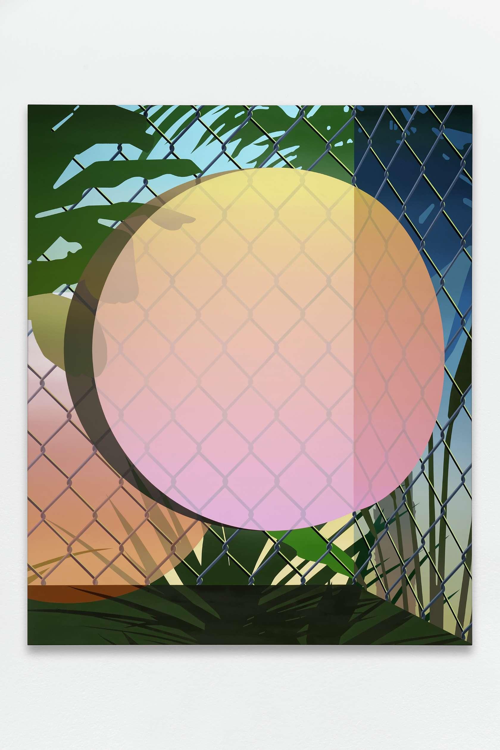 Amélie Bertrand, Attraction, 2016 Huile sur toile170 x 140cm / 66 7/8 x 55 1/8inches