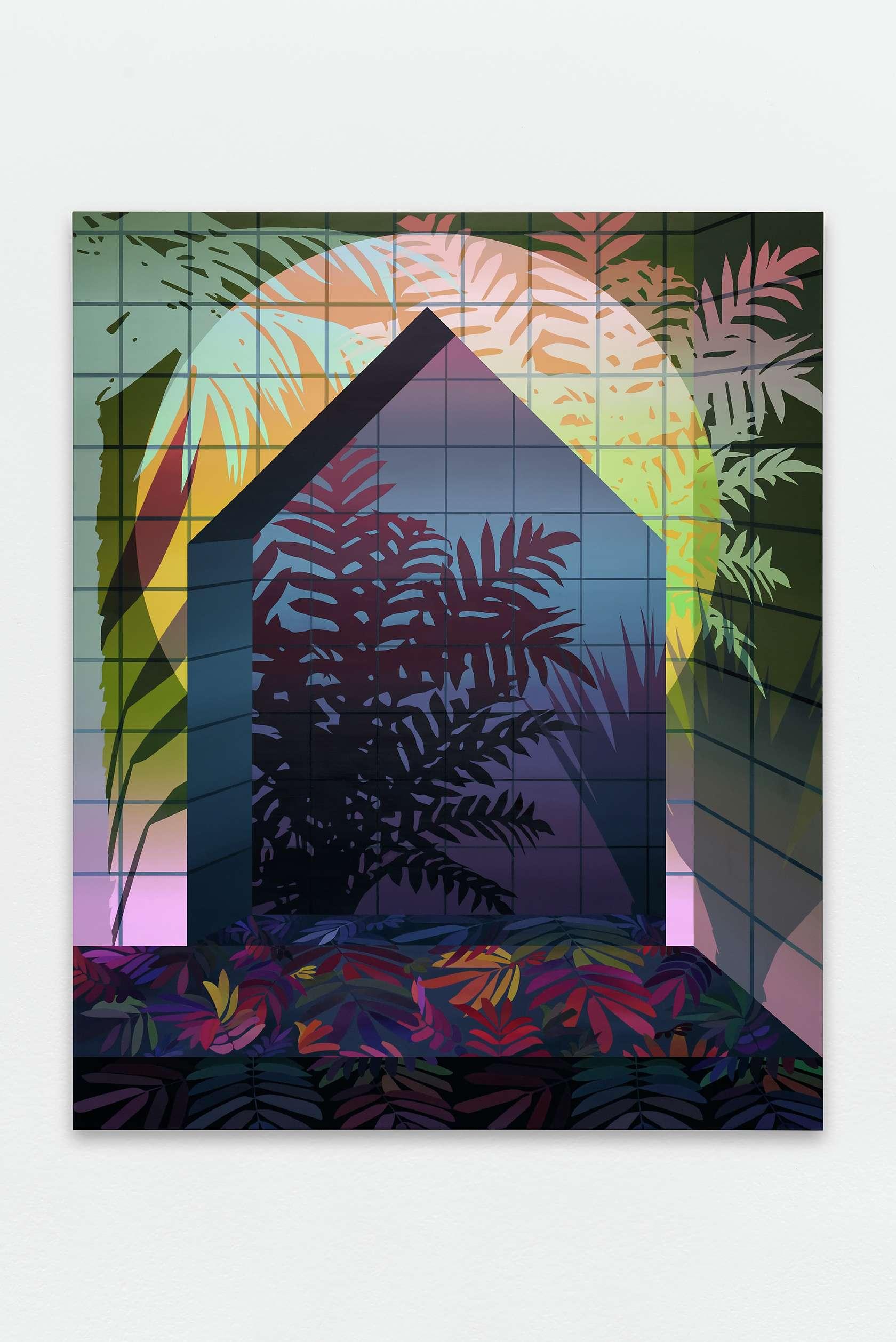 Amélie Bertrand, Electric Dream, 2016 Huile sur toile220 x 180cm / 86 5/8 x 70 7/8inches