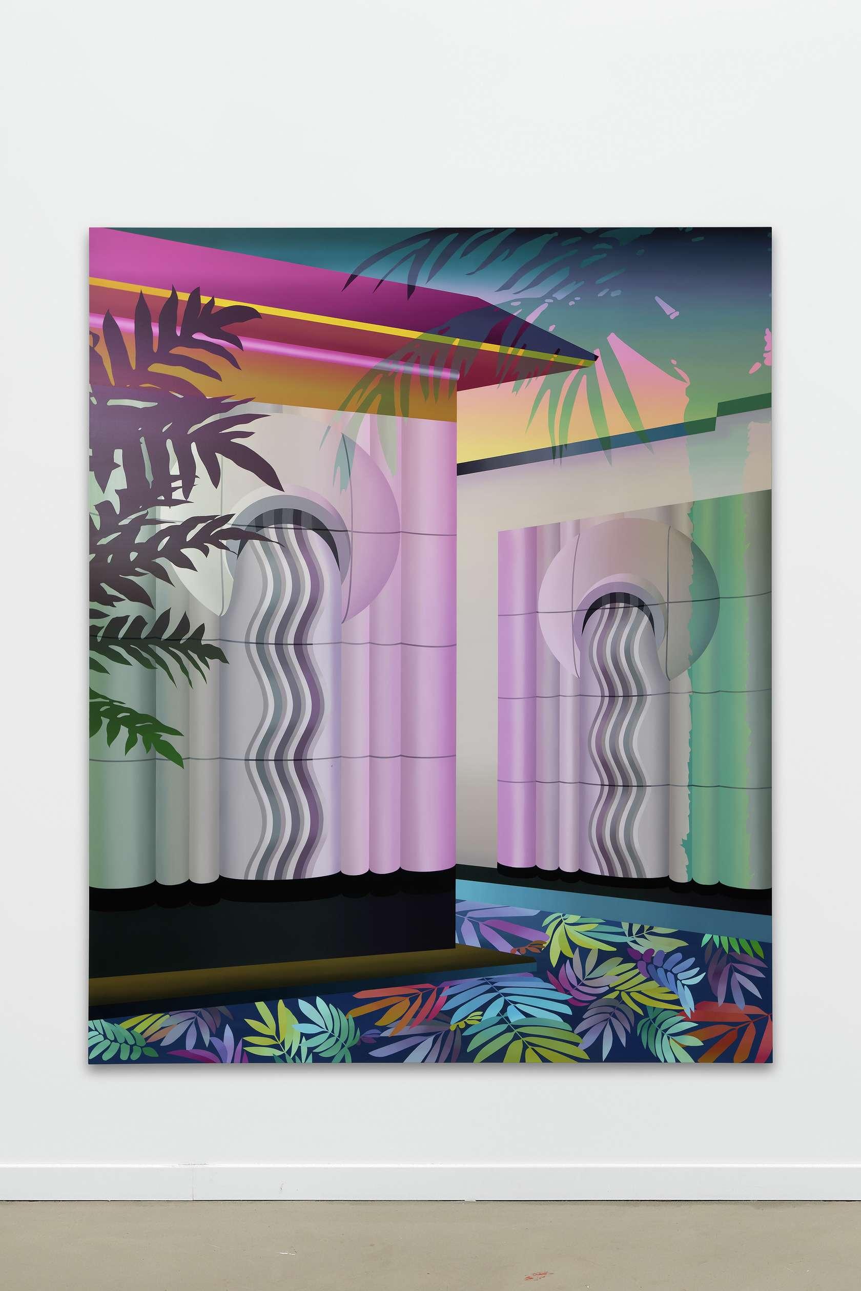 Amélie Bertrand, Daisy Temple, 2018 Huile sur toile220 × 180 cm / 86 5/8 × 70 7/8 in.