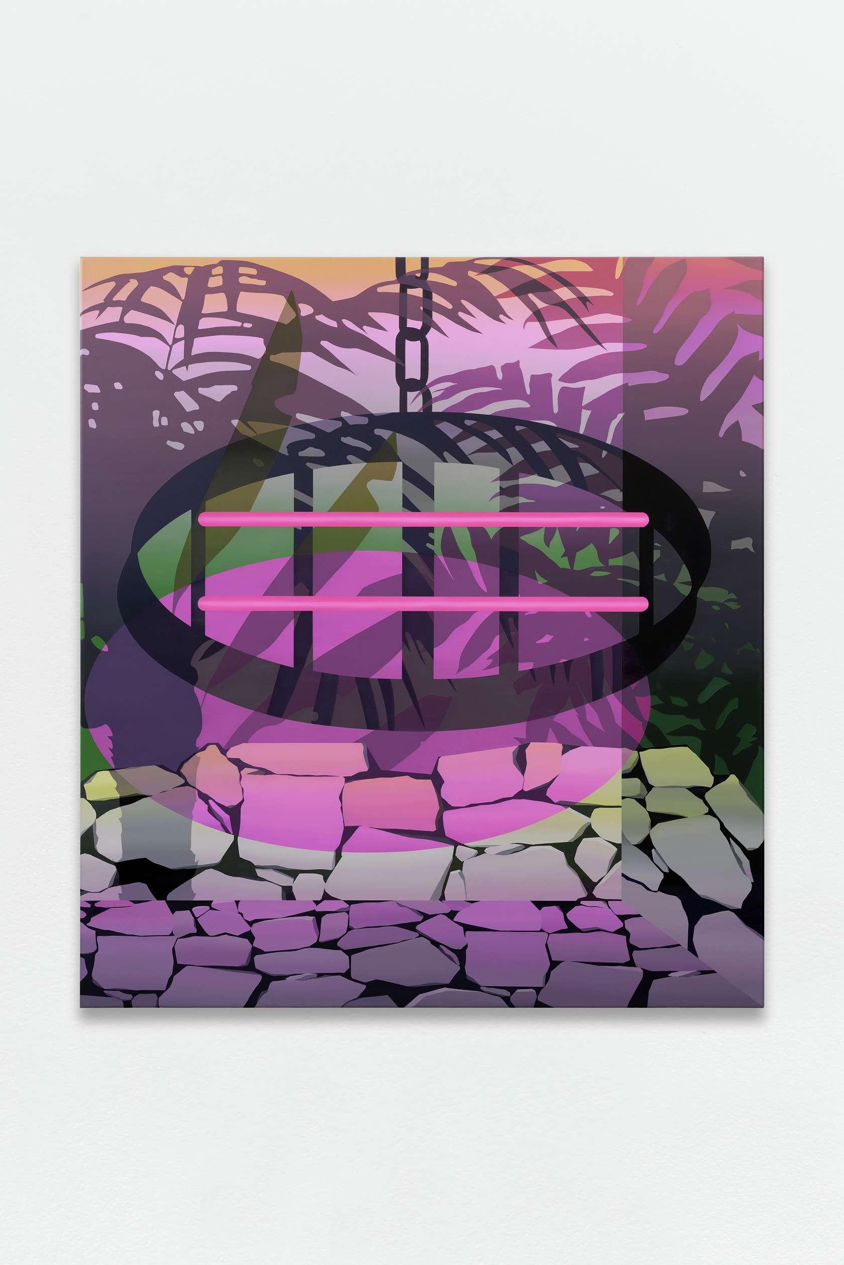 Amélie Bertrand, Self Sabotage, 2018 Huile sur toile110 x 100cm / 43 2/8 x 39 3/8inches