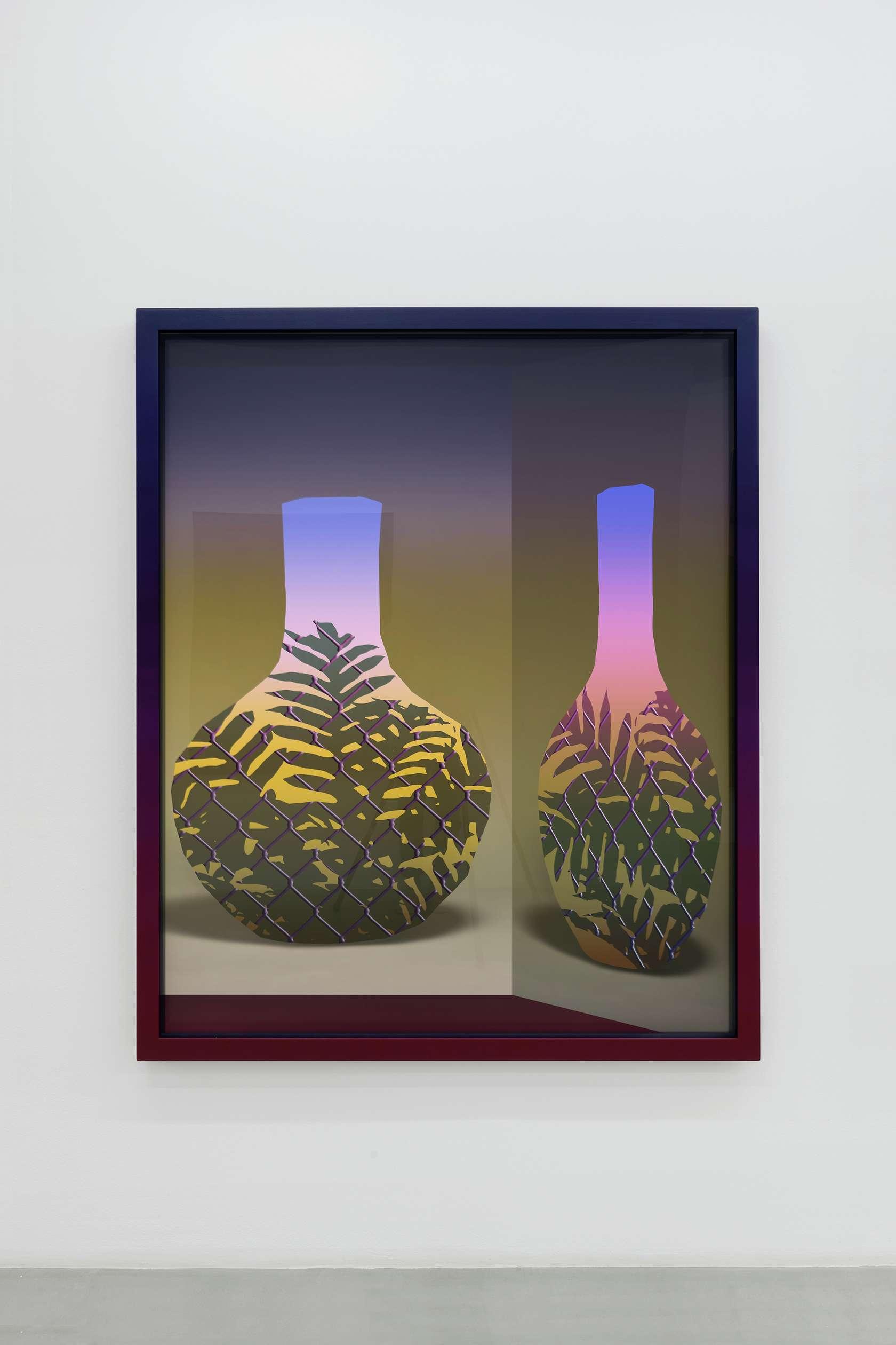 Amélie Bertrand, Muddy water, 2018 Tirage argentique et cadre peint - pièce unique168.5 × 138.5 × 6 cm / 66 3/8 × 54 1/2 × 2 3/8 in.