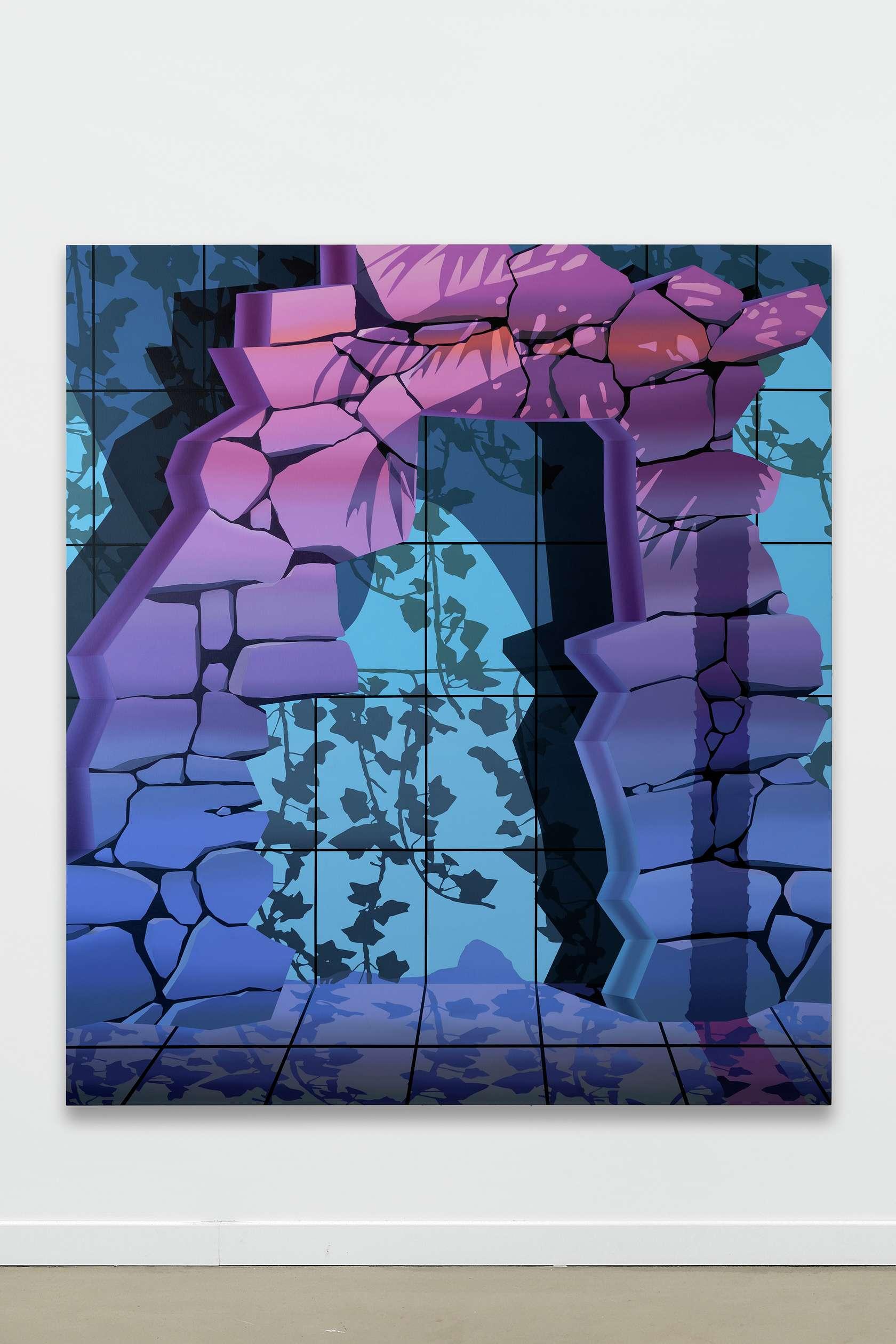 Amélie Bertrand, The Drought, 2019 Huile sur toile180 × 160 cm / 70 7/8 × 63  in.