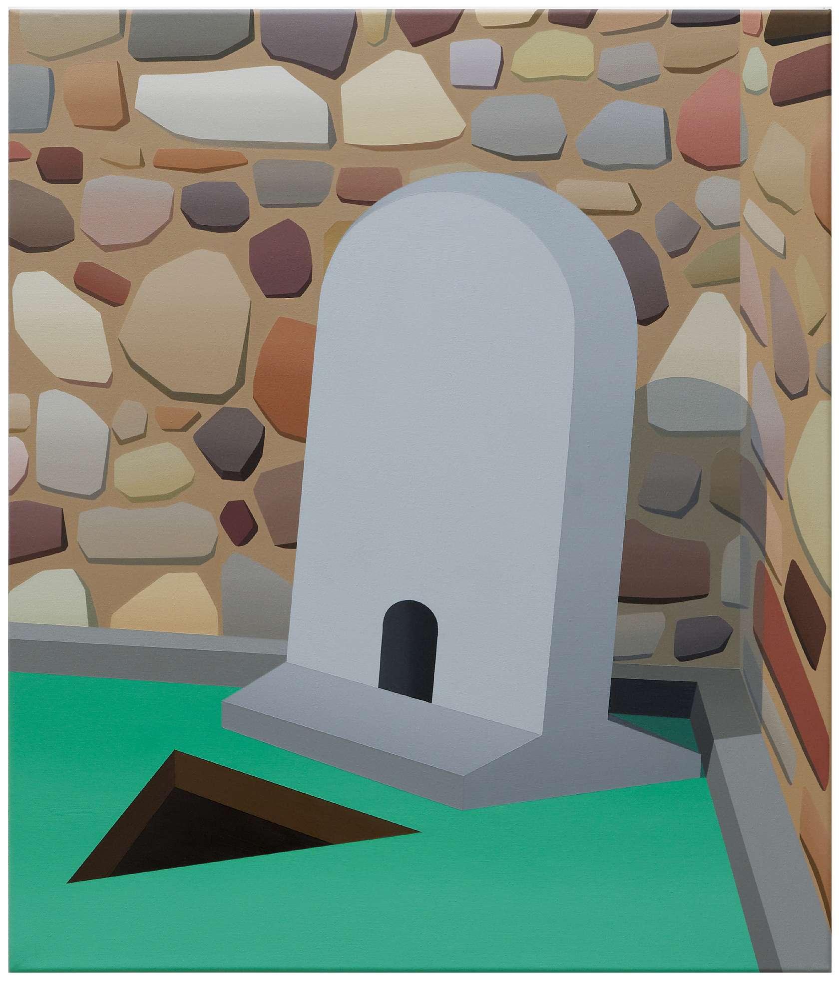 Amélie Bertrand, Sans titre, 2011 Huile sur toile70 × 60 cm / 27 1/2 × 23 5/8 in.