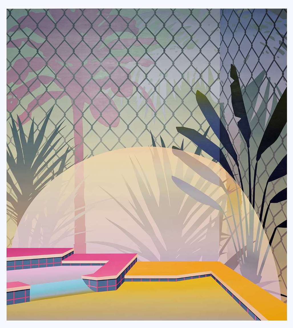 Amélie Bertrand, Bad boy at sunset, 2015 Huile sur toile200 × 180 cm / 78 6/8 × 70 7/8 in.