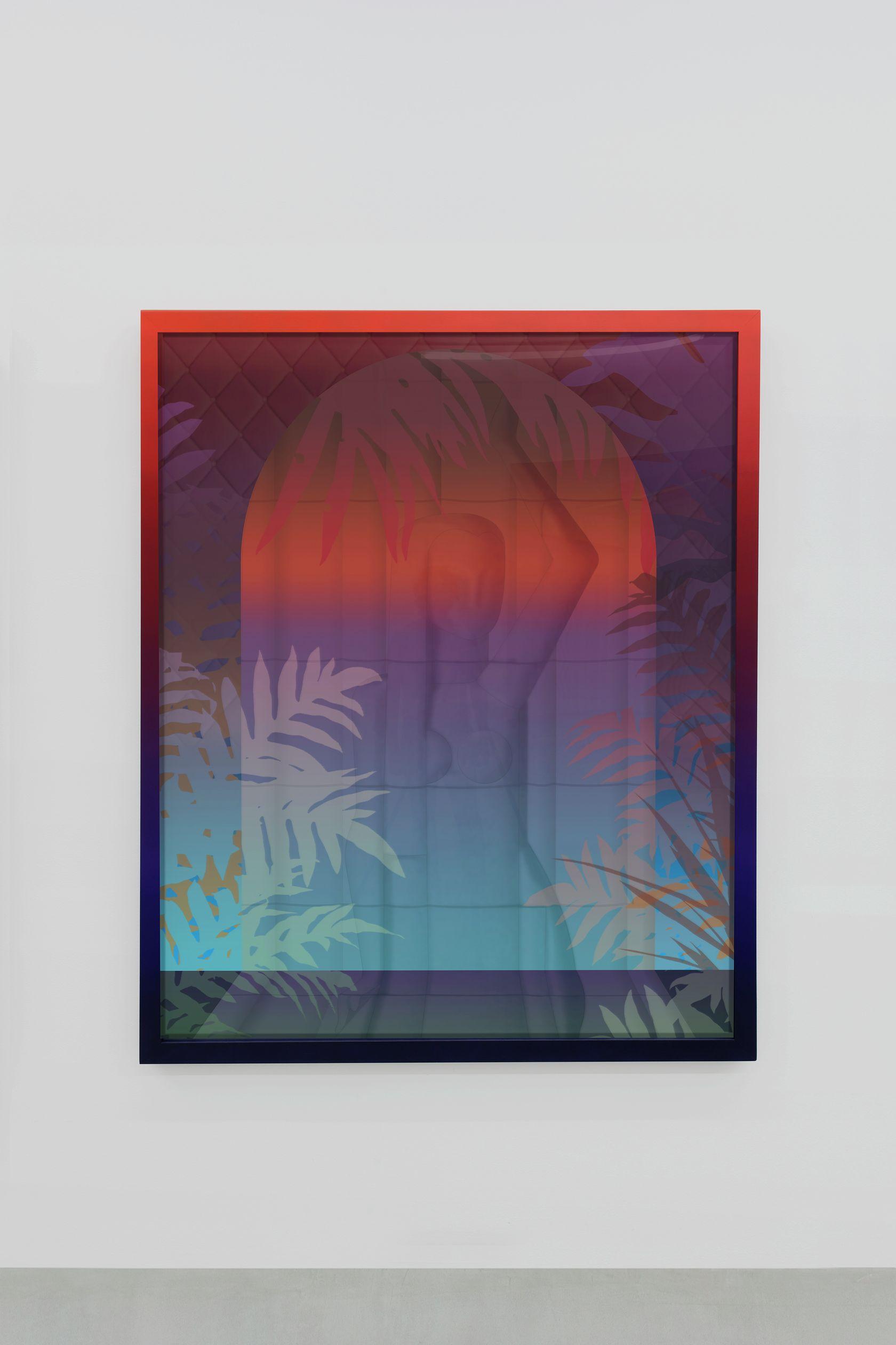Amélie Bertrand, Sun Dance, 2018 Tirage argentique et cadre peint - pièce unique168.5 × 138.5 × 6 cm / 66 3/8 × 54 1/2 × 2 3/8 in.