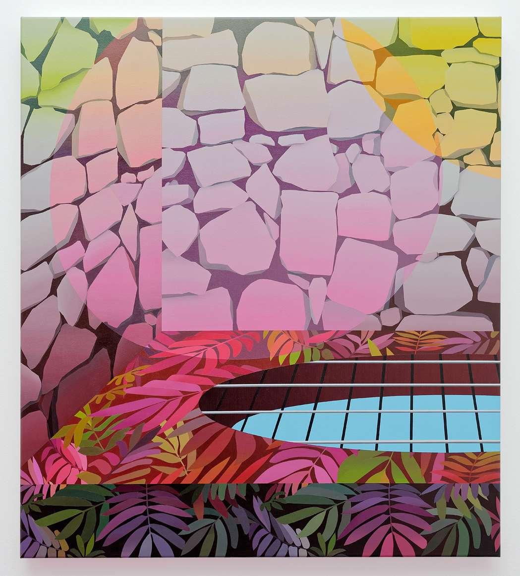Amélie Bertrand, Sans titre, 2015 Huile sur toile90 × 80 cm / 35 3/8 × 31 1/2 in.