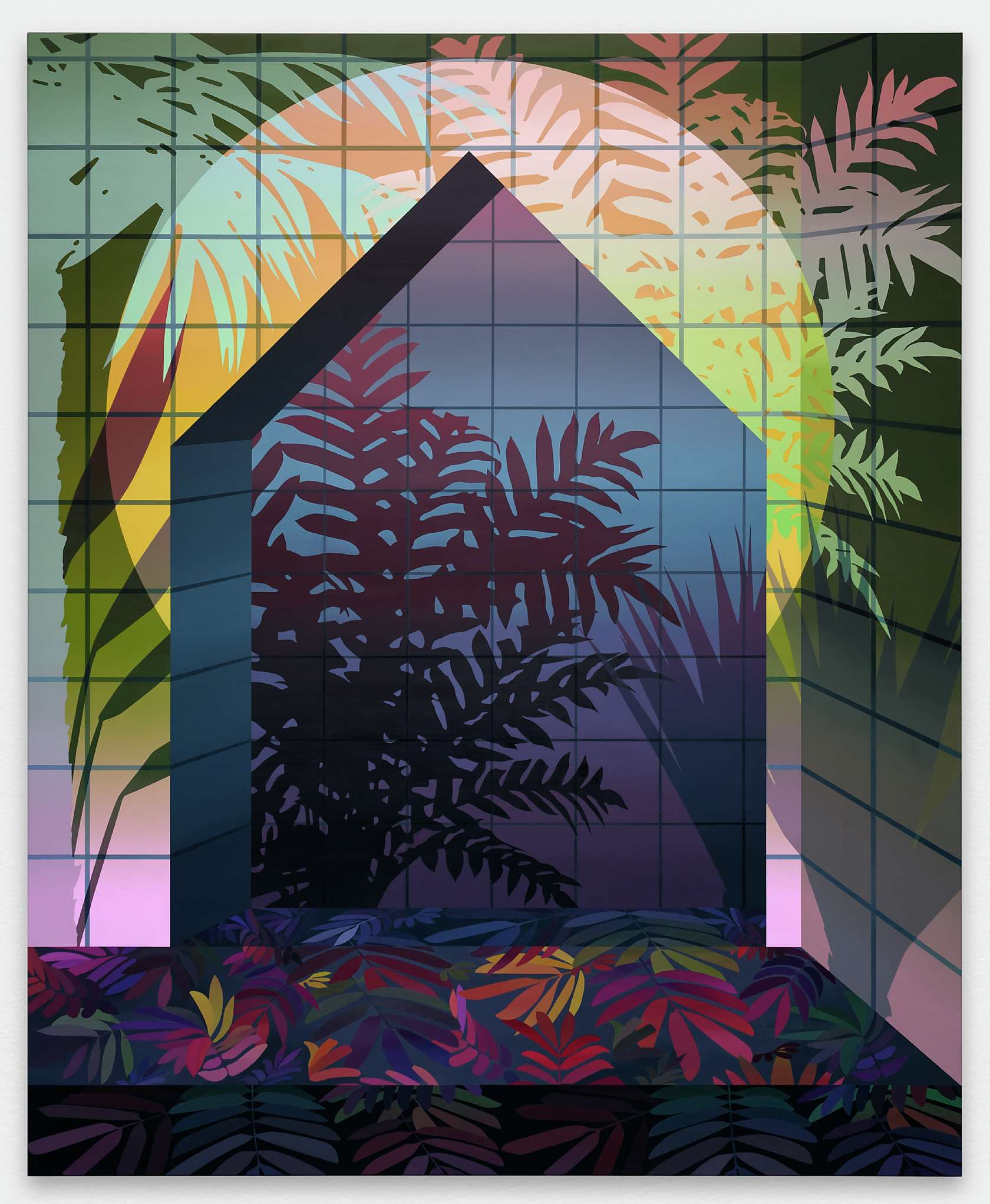 Amélie Bertrand, Electric Dream, 2016 Huile sur toile220 × 180 cm / 86 5/8 × 70 7/8 in.