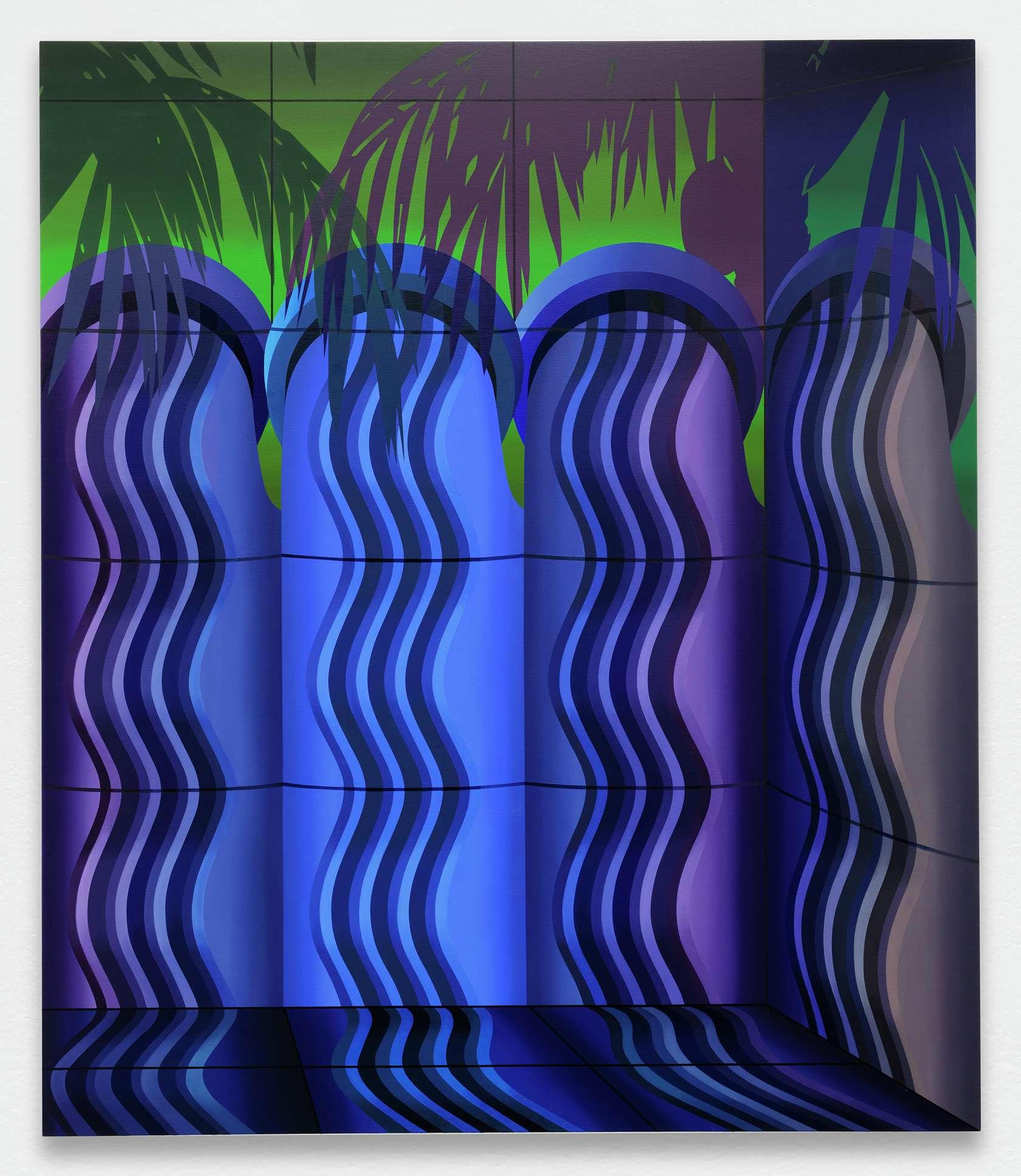 Amélie Bertrand, Waterfall, 2018 Huile sur toile140 × 120 cm / 55 1/8 × 47 2/8 in.