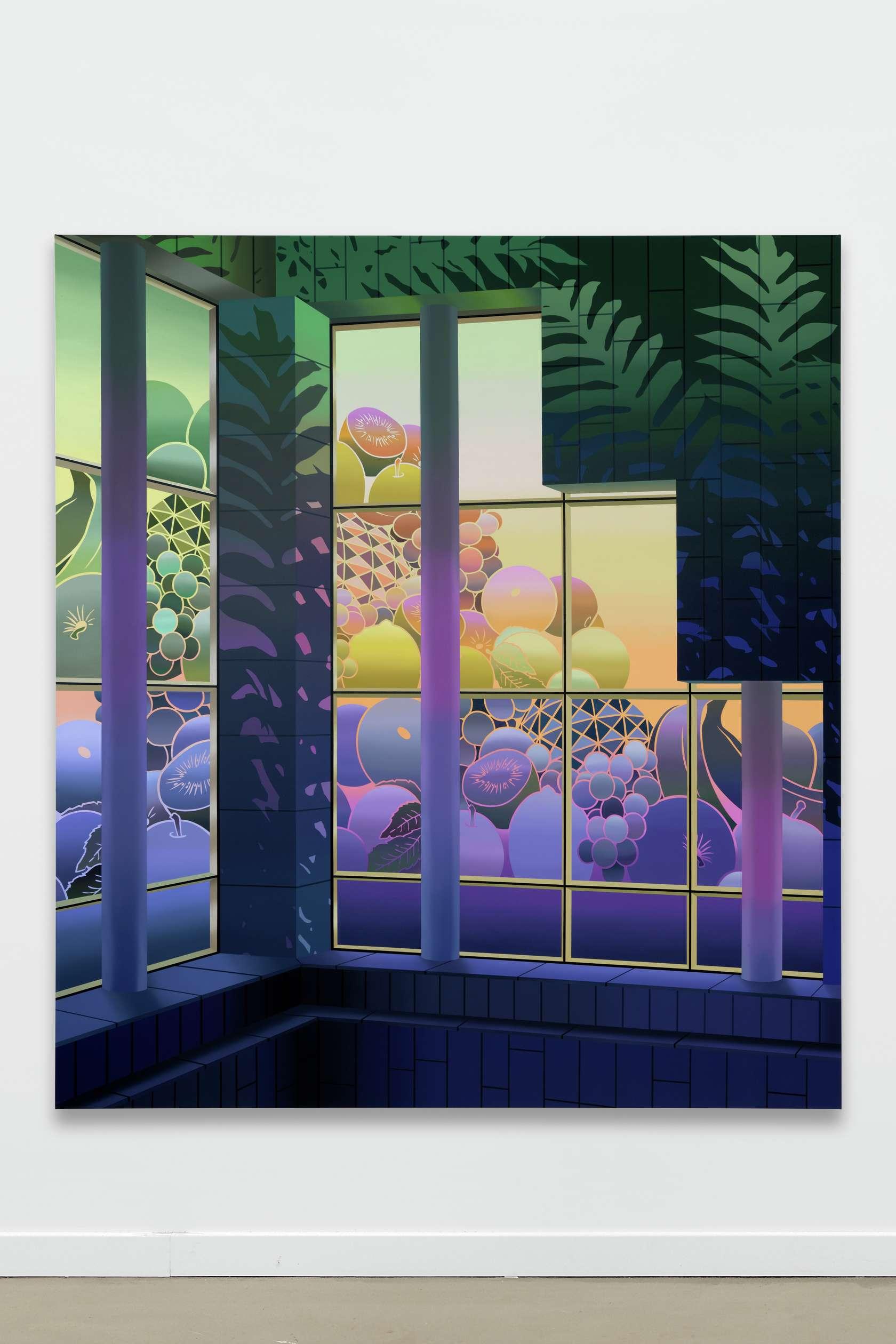 Amélie Bertrand, Cosmic soup, 2019 Huile sur toile200 × 180 cm / 78 6/8 × 70 7/8 in.