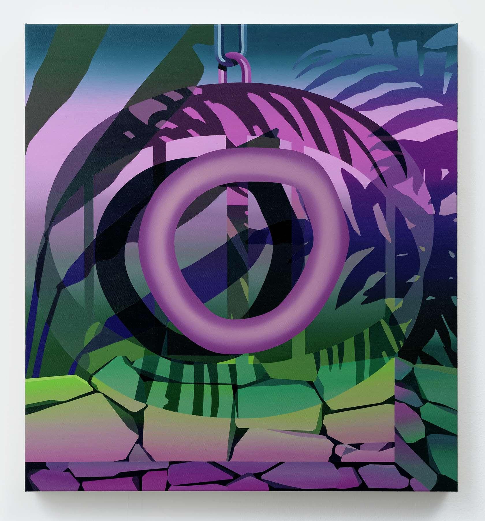 Amélie Bertrand, The Watcher I, 2020 Huile sur toile65 × 60 cm / 25 5/8 × 23 5/8 in.