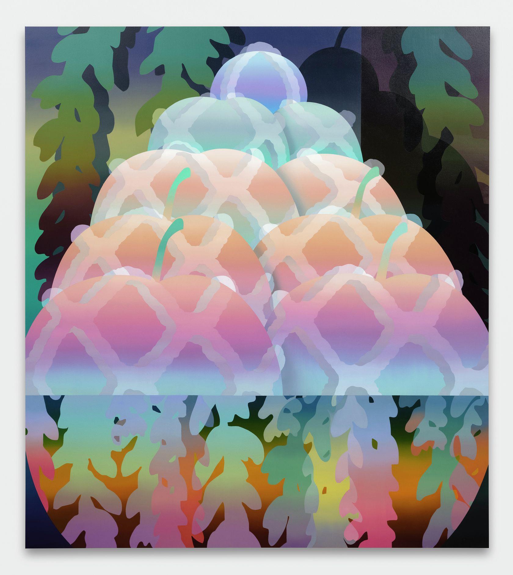 Amélie Bertrand, Frozen Aphrodite, 2021 Huile sur toile180 × 160 cm / 70 7/8 × 63  in.