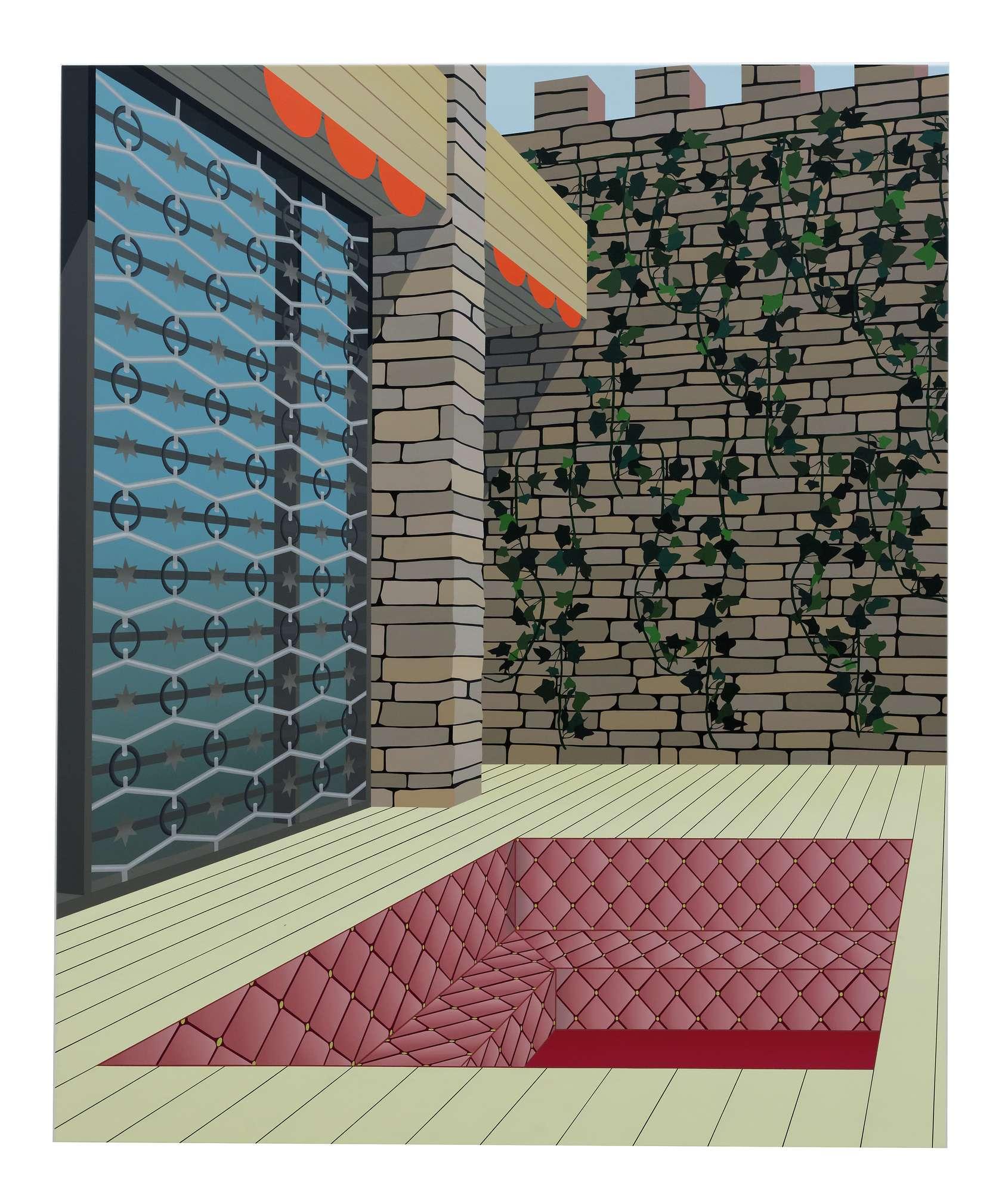 Amélie Bertrand, Sans titre, 2012 Huile sur toile170 × 140 cm / 66 7/8 × 55 1/8 in.