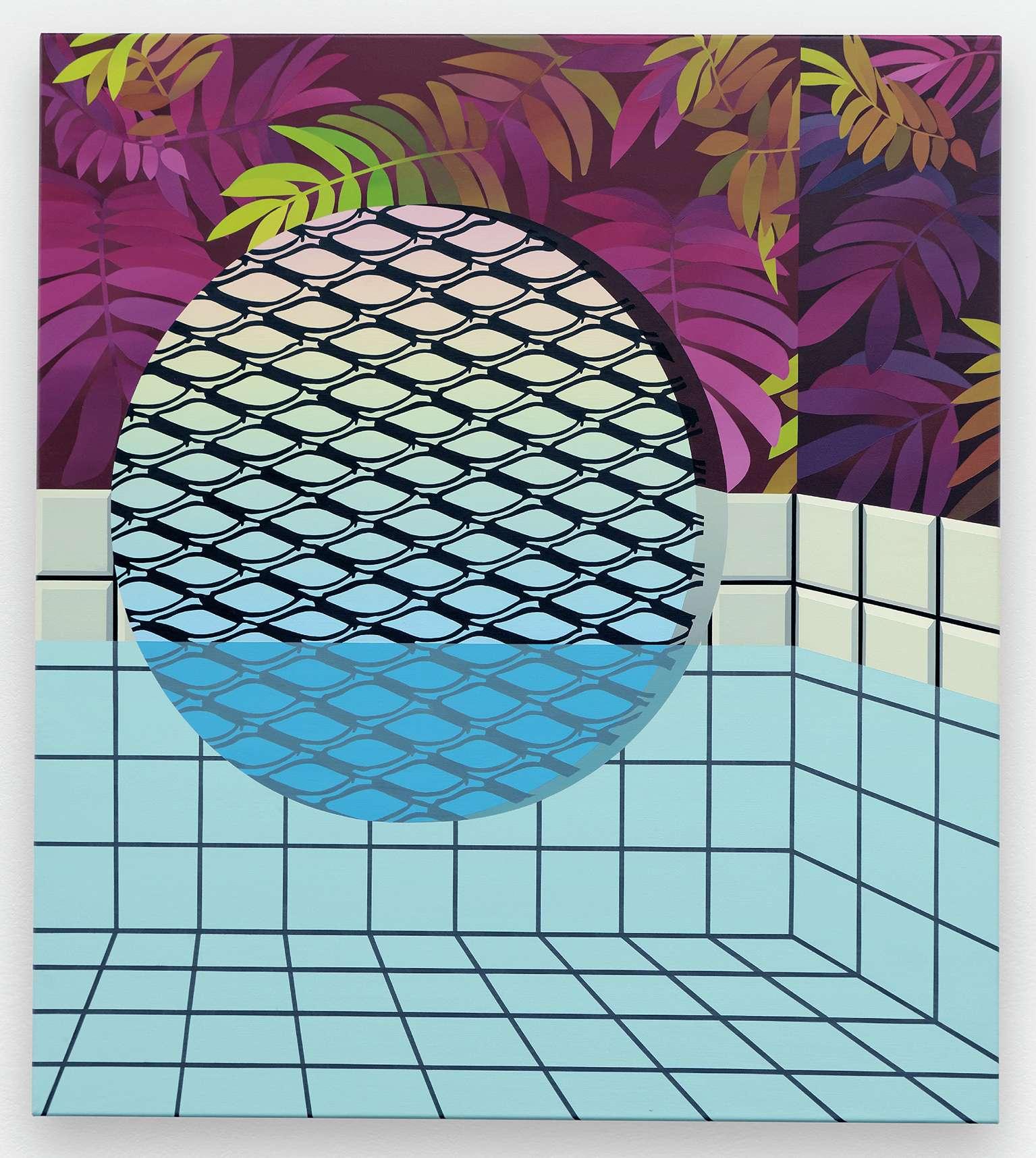 Amélie Bertrand, Sans titre, 2014 Huile sur toile90 × 80 cm / 35 3/8 × 31 1/2 in.