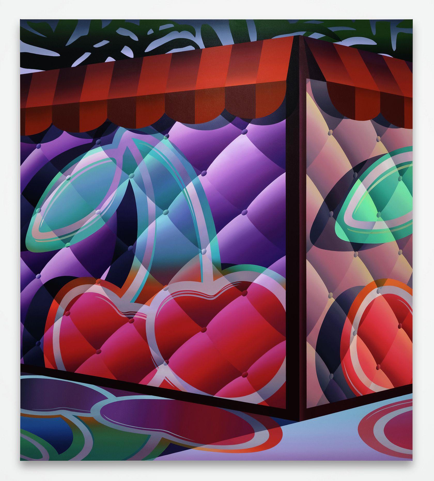 Amélie Bertrand, Candyshop, 2021 Huile sur toile180 × 160 cm / 70 7/8 × 63  in.