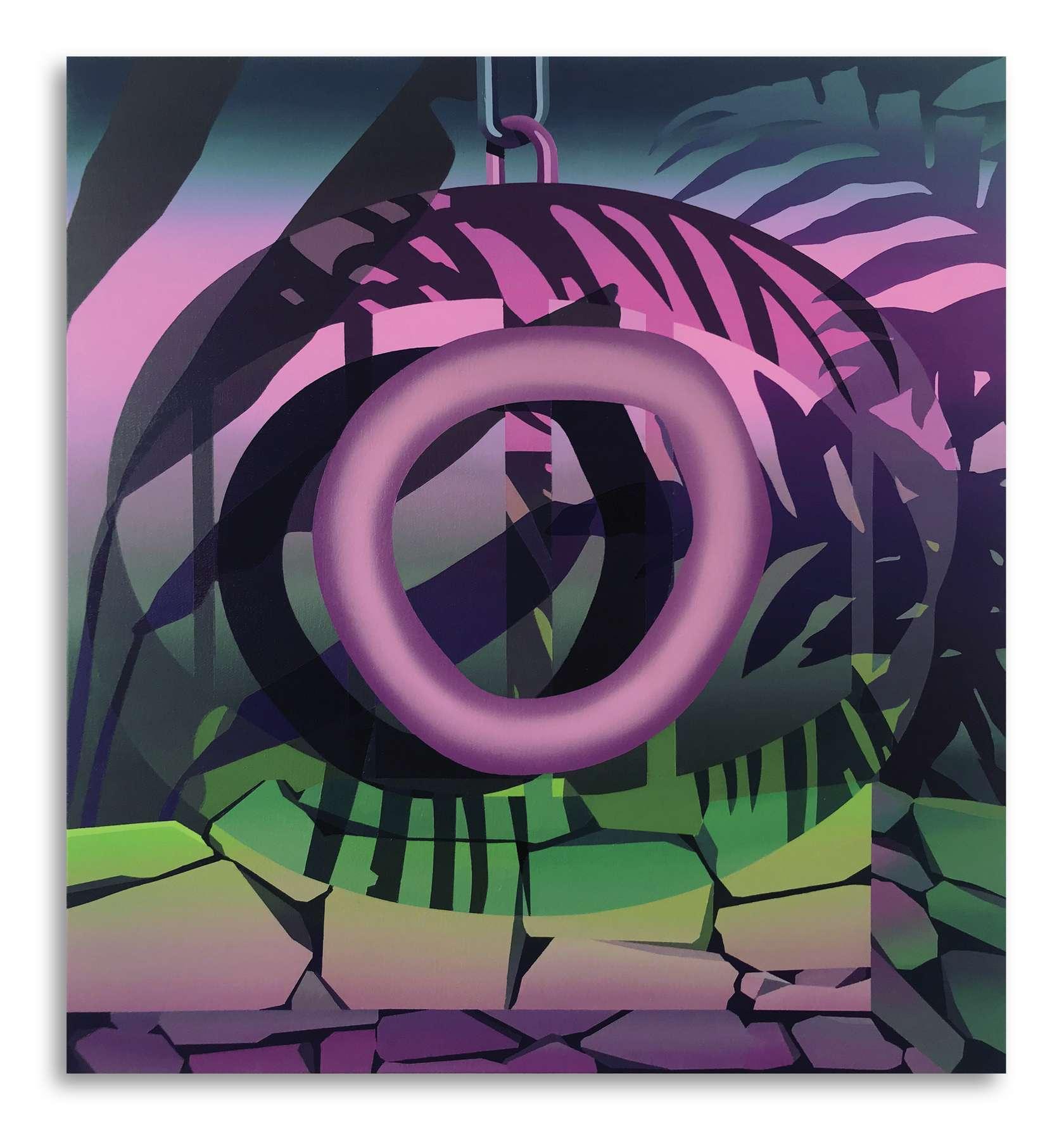 Amélie Bertrand, The Watcher I, 2019 Huile sur toile65 x 60 cm / 25 5/8 x 23 5/8 inches