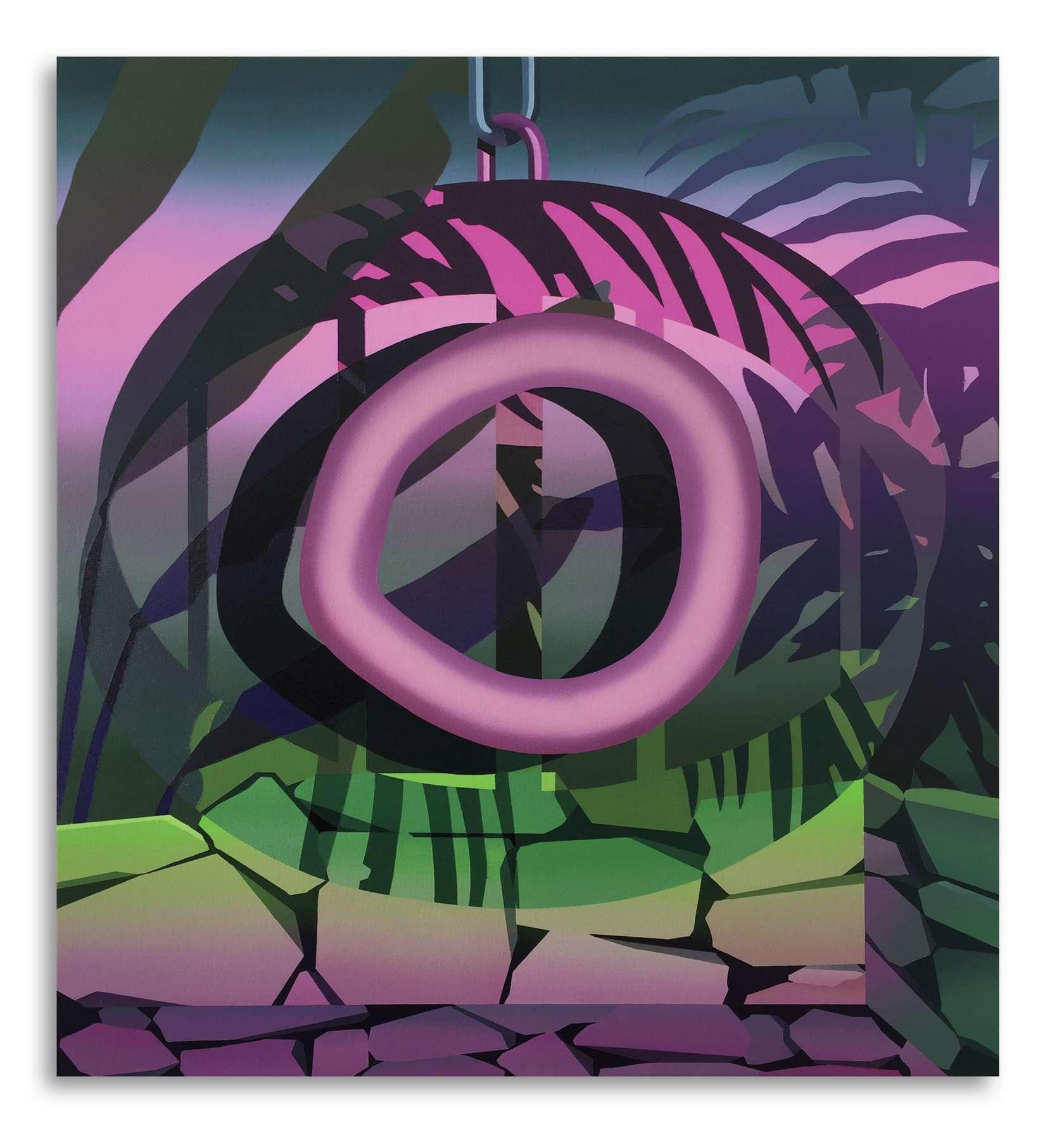 Amélie Bertrand, The Watcher II, 2019 Huile sur toile65 x 60 cm / 25 5/8 x 23 5/8 inches