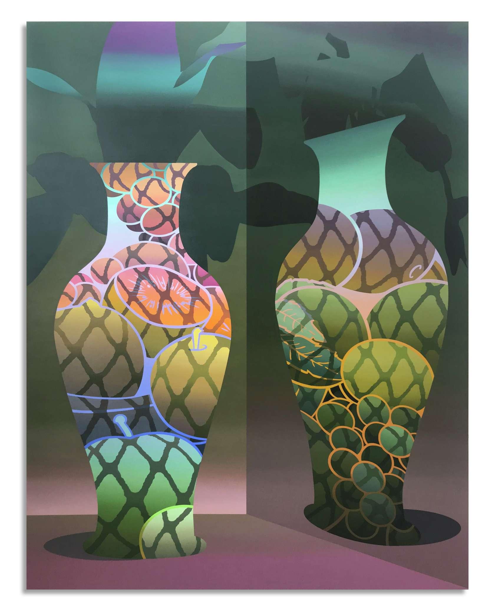 Amélie Bertrand, Cocktail, 2019 Huile sur toile180 x 140 cm / 70 7/8 x 55 1/8 inches