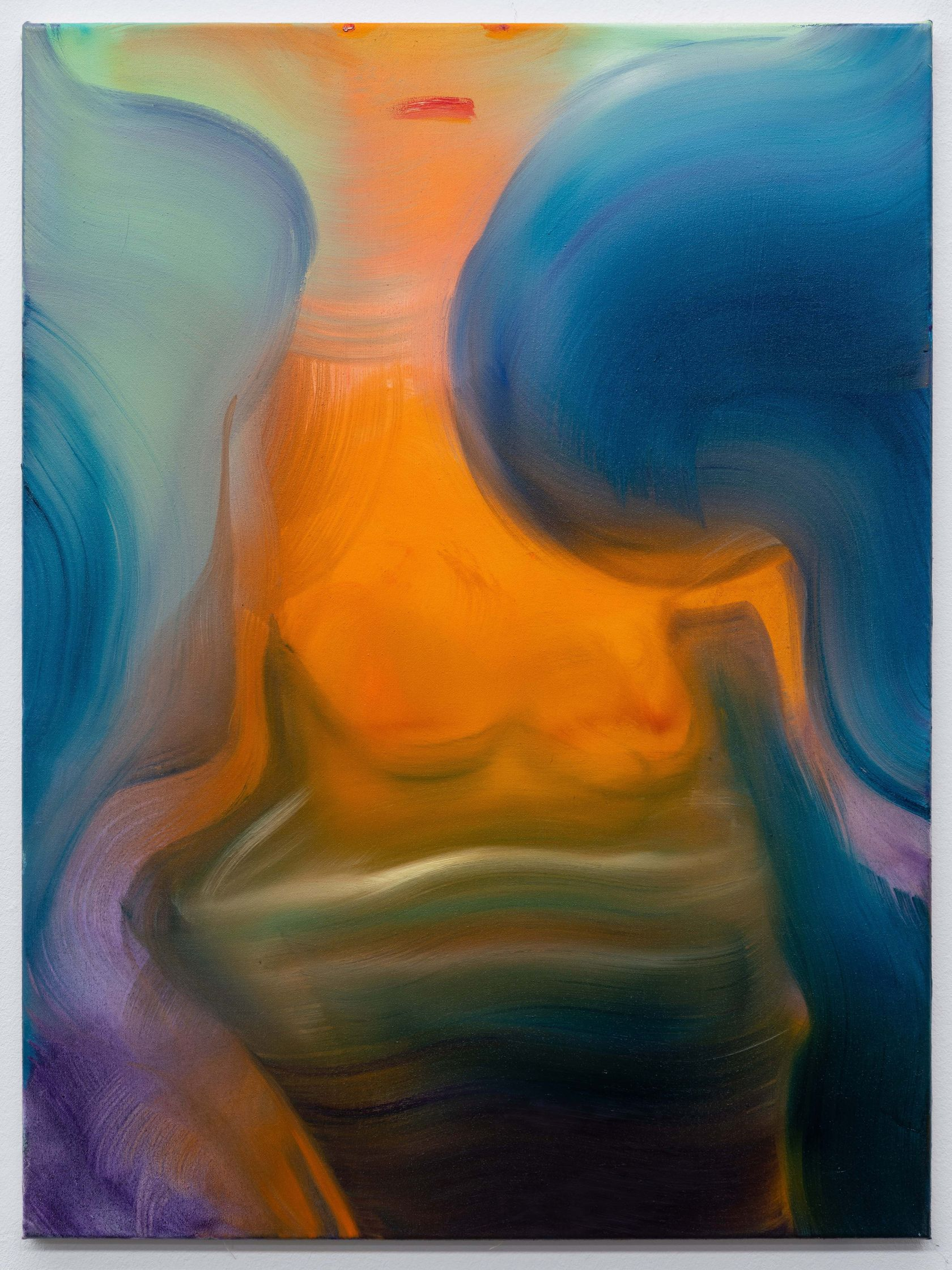 Aneta Kajzer, Alien Pool, 2021 Huile sur toile80 × 60 cm / 31 1/2 × 23 5/8 in.
