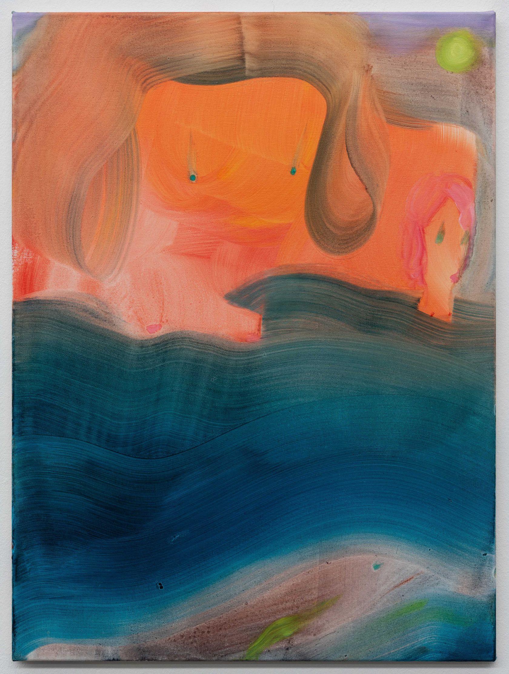 Aneta Kajzer, Happy Holidays, 2021 Huile sur toile80 × 60 cm / 31 1/2 × 23 5/8 in.