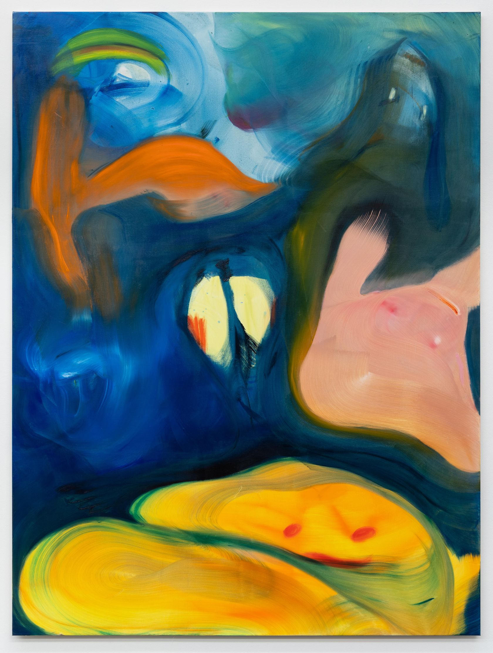 Aneta Kajzer, Under The Surface, 2021 Huile sur toile220 × 165 cm / 86 5/8 × 65  in.