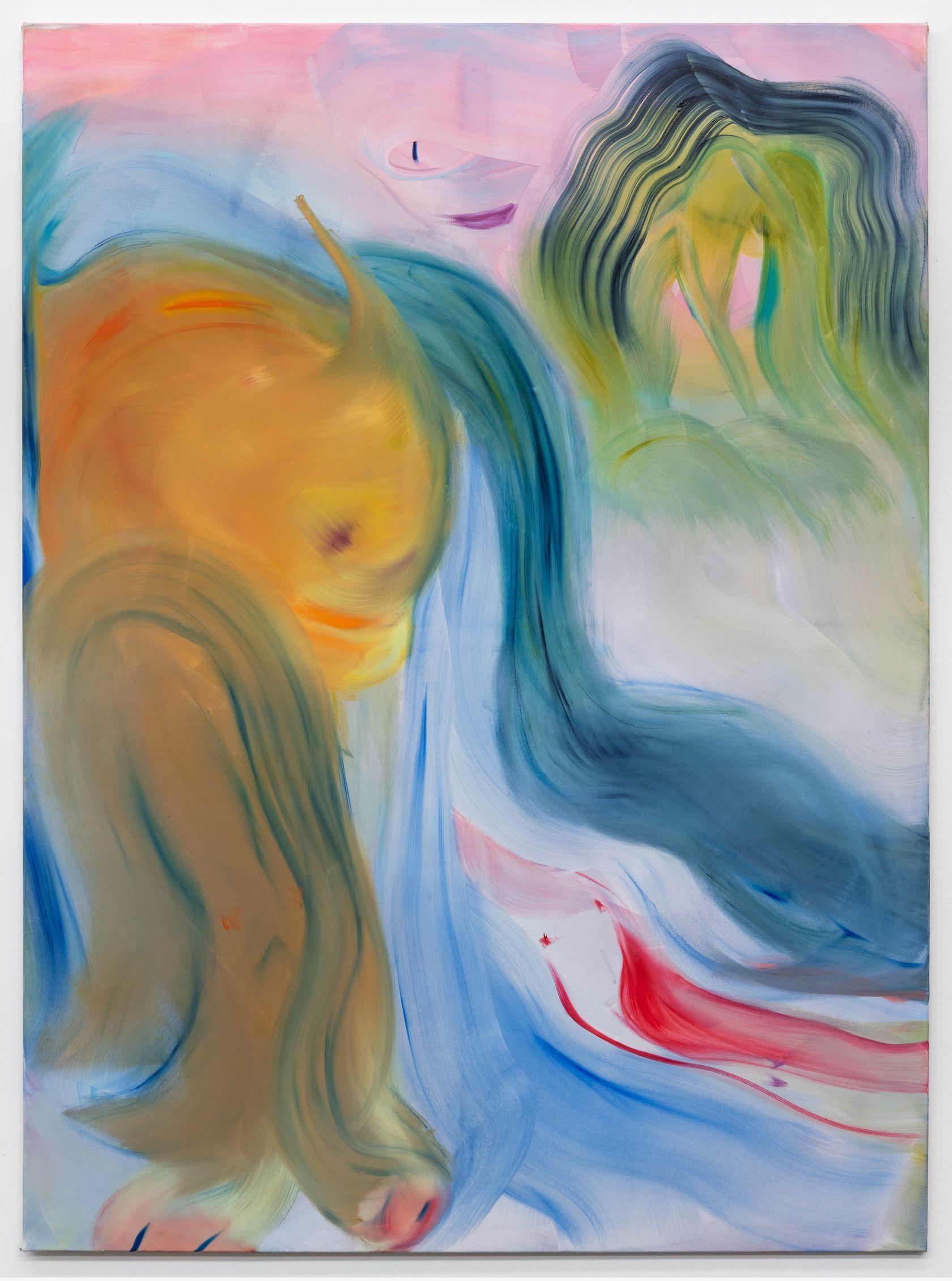 Aneta Kajzer, Waterfalls, 2021 Huile sur toile190 × 140 cm / 74 6/8 × 55 1/8 in.