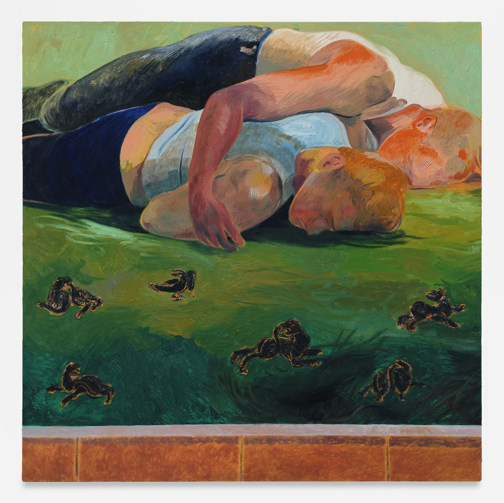 Anthony Cudahy, Rest (past), 2021 Huile sur toile122 × 122 cm / 48 × 48 in.