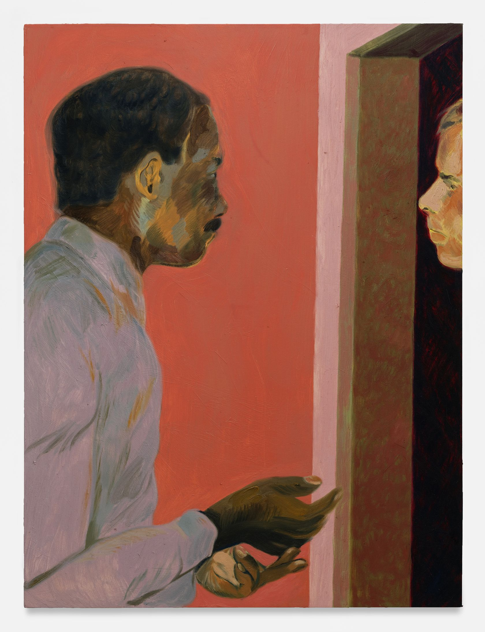 Anthony Cudahy, Conversation i, 2021 Huile sur toile122 × 91 cm / 48 × 36 in.