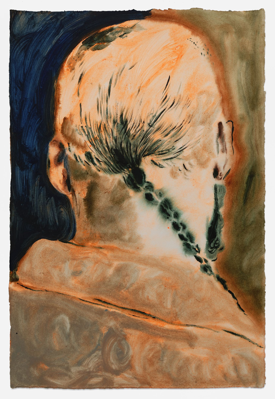 Anthony Cudahy, Braid, 2021 Acrylique sur papier76 × 51 cm / 30 × 20 in. | 83.5 × 58.5 × 3.5 cm / 32 7/8 × 23  × 1 3/8 in. (encadré/framed)