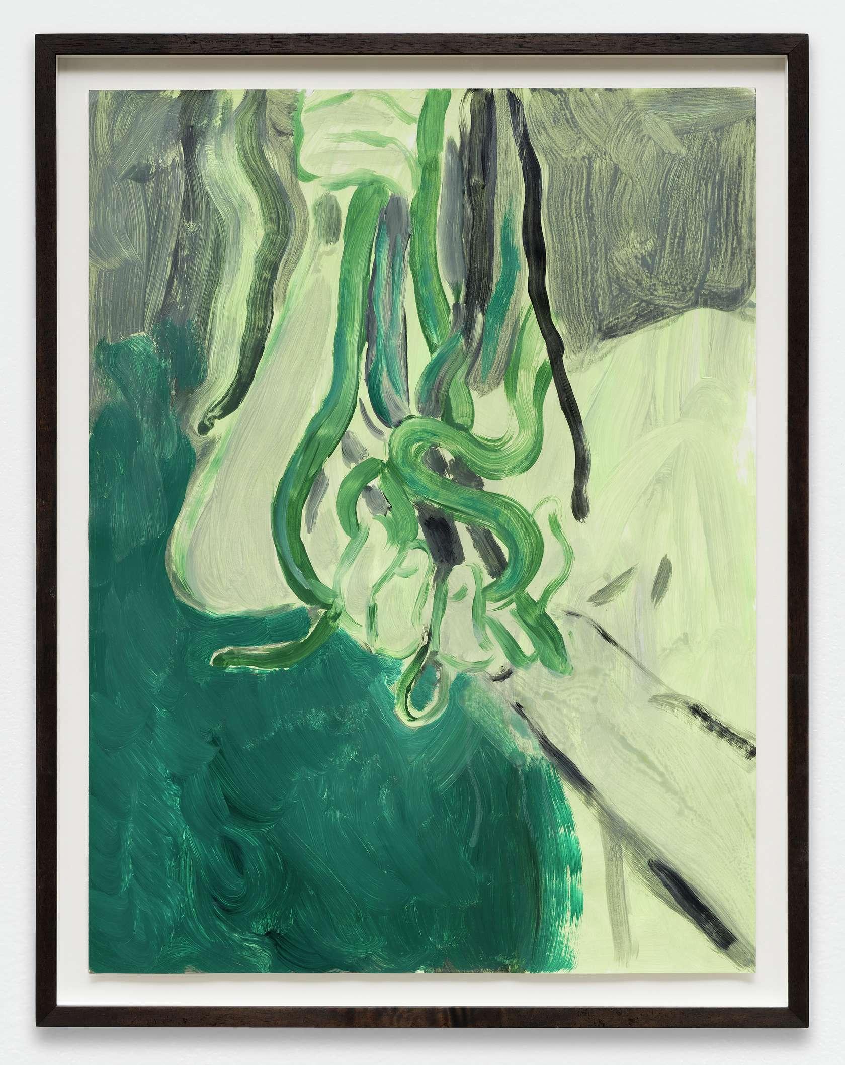 Anthony Cudahy, Snake bundle, 2019 Acrylique sur papier61 × 46 cm / 24  × 18 1/8 in. | 68 × 53 cm / 26 6/8 × 20 7/8 in. (encadré/framed)