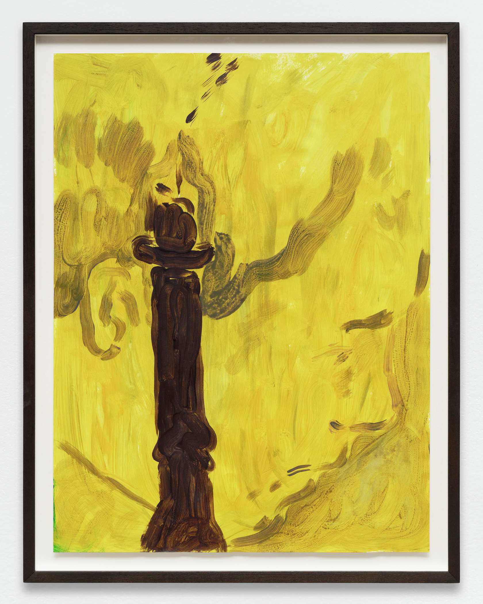 Anthony Cudahy, Flame, 2019 Acrylique sur papier61 × 46 cm / 24  × 18 1/8 in. | 68 × 53 cm / 26 6/8 × 20 7/8 in. (encadré/framed)