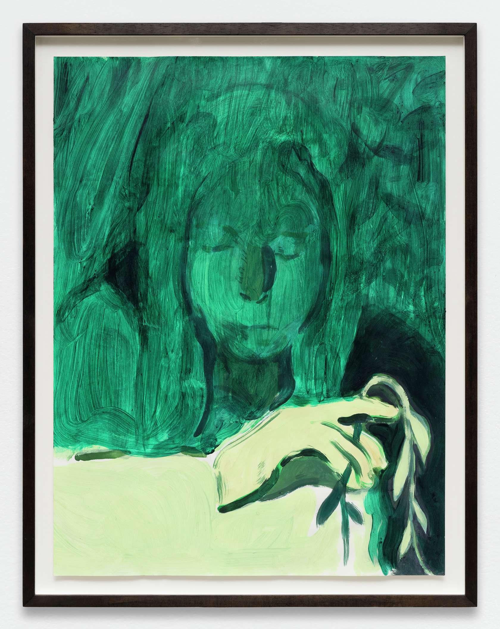 Anthony Cudahy, Shaded, 2019 Acrylique sur papier61 × 46 cm / 24  × 18 1/8 in. | 68 × 53 cm / 26 6/8 × 20 7/8 in. (encadré/framed)