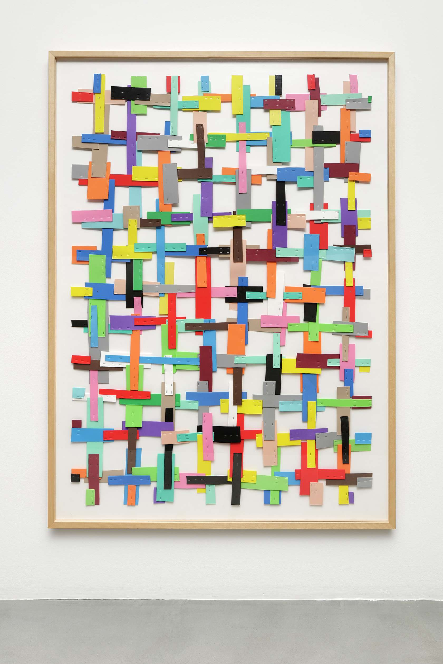 Beat Zoderer, Kreuzweise, 1999-2000 Mousse, agrafes136 × 100 cm / 53 1/2 × 39 3/8 in.