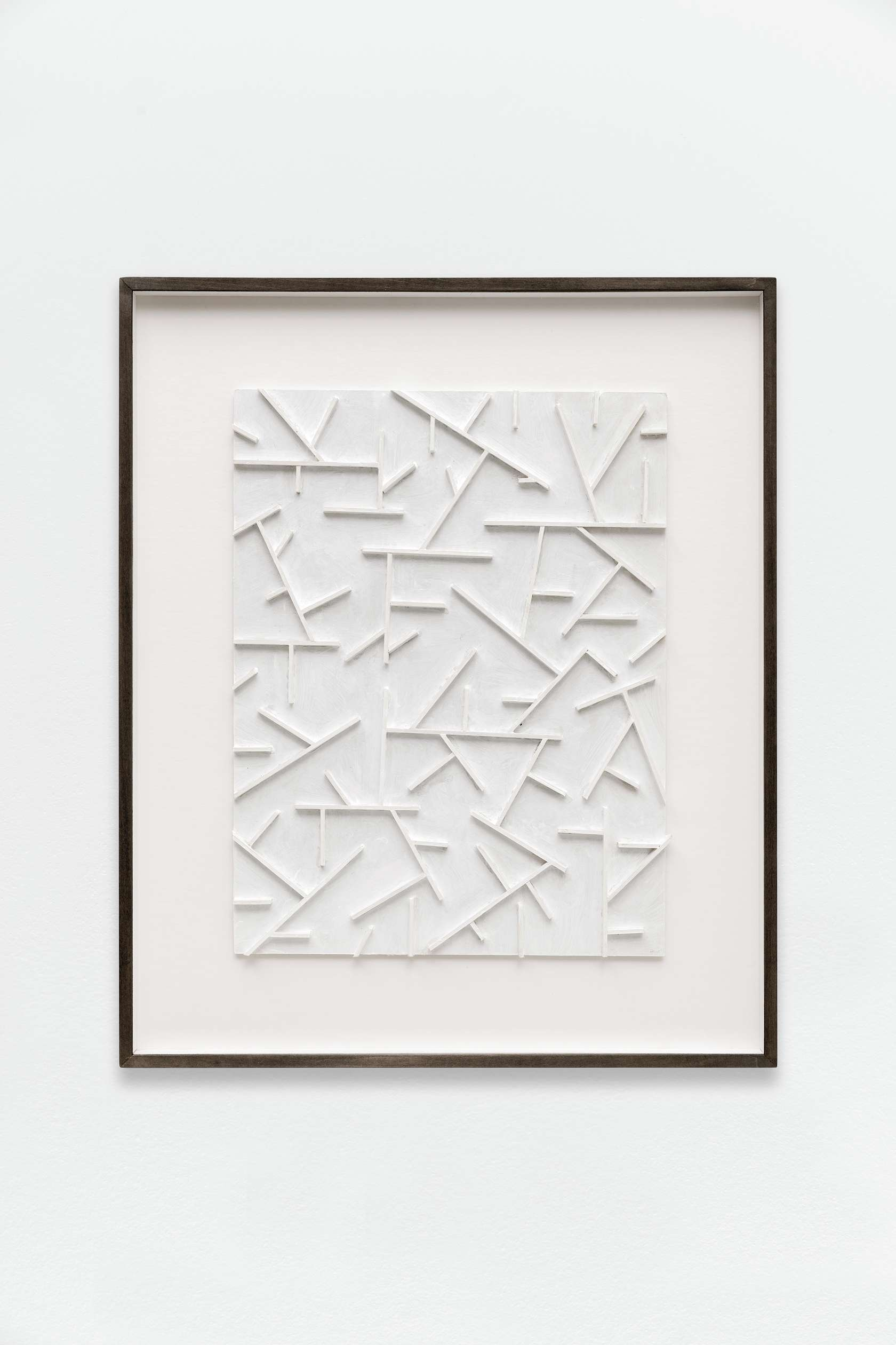 Beat Zoderer, Mashrabi 01, 2015 Bois et carton peints62.1 x 51.7 cm / 24 1/2 x 20 3/8 inches