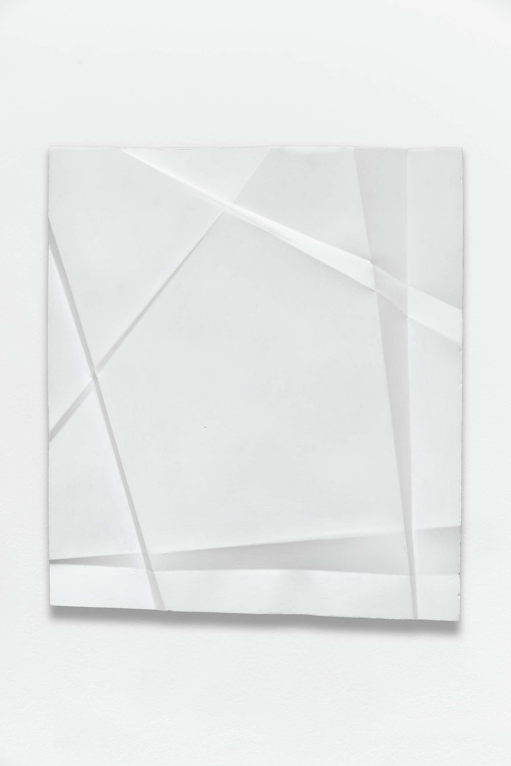 Beat Zoderer, Penta Guss, 2018 Plâtre et acrylique42 x 37.2 cm / 16 1/2 x 14 5/8 inches