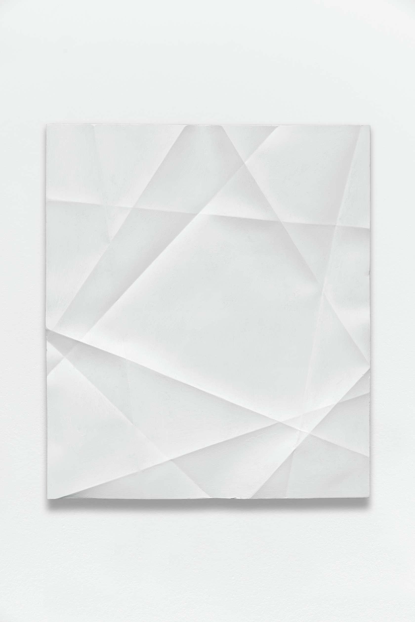 Beat Zoderer, Penta Guss, 2018 Plâtre et acrylique45.7 x 39.9 cm / 18  x 15 6/8 inches