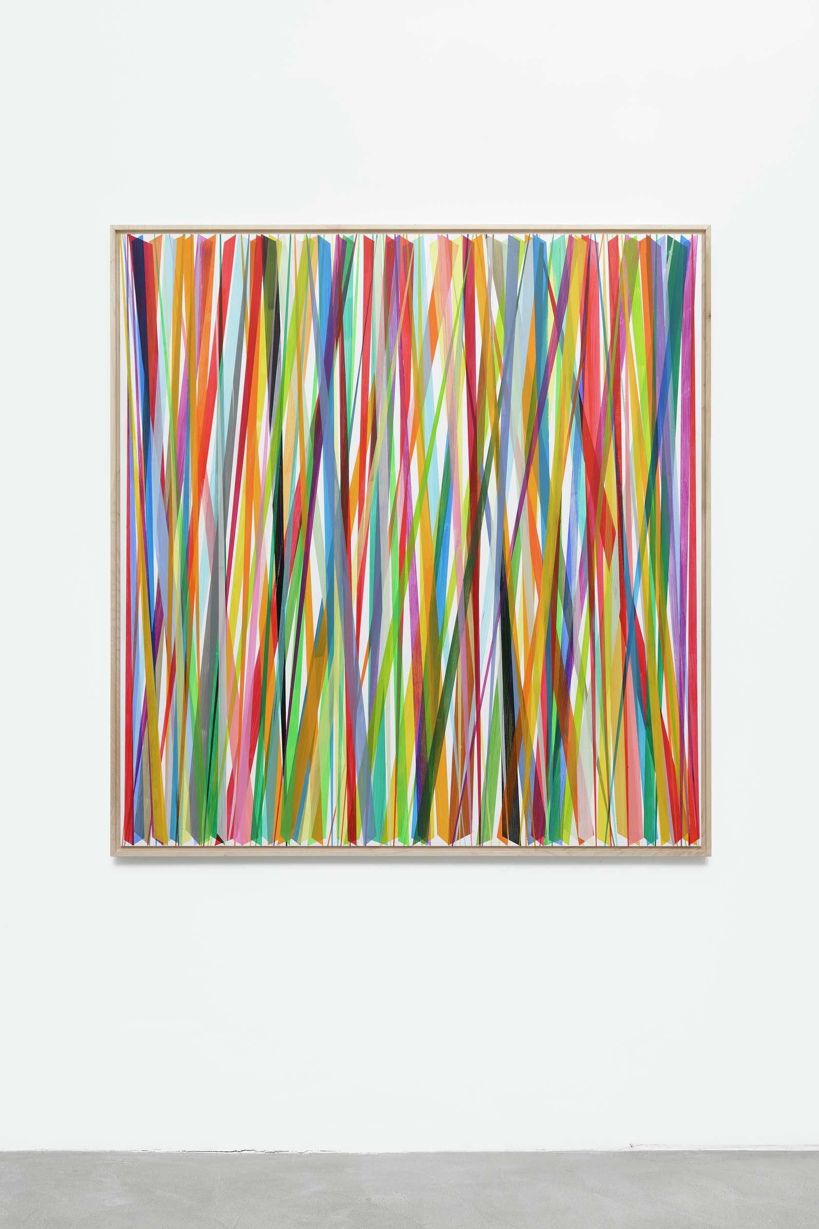 Beat Zoderer, Vertikales ZIG-ZAG No. 8/19, 2019 Acrylique sur panneau de bois124 x 118 cm / 48 7/8 x 46 1/2 inches