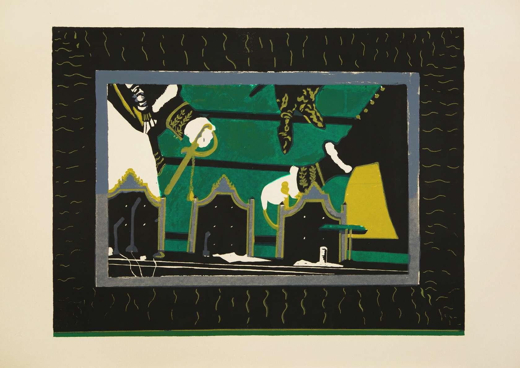 Beatriz González, Bodegón Colombiano, 1983 Sérigraphie sur papier67 × 96 cm / 26 3/8 × 37 6/8 in.