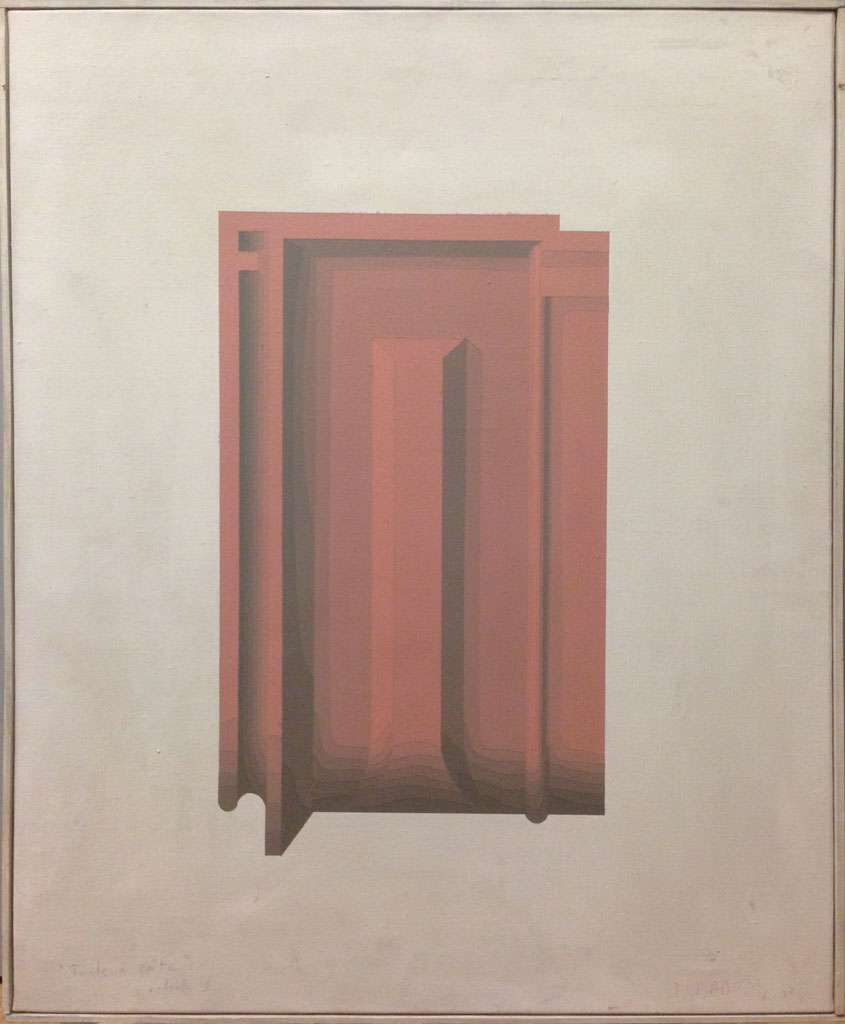 Christian Babou, Tuile à côte de Montchanin, 1978 Acrylique sur toile65 x 50 cm / 25 5/8 x 19 5/8 inches