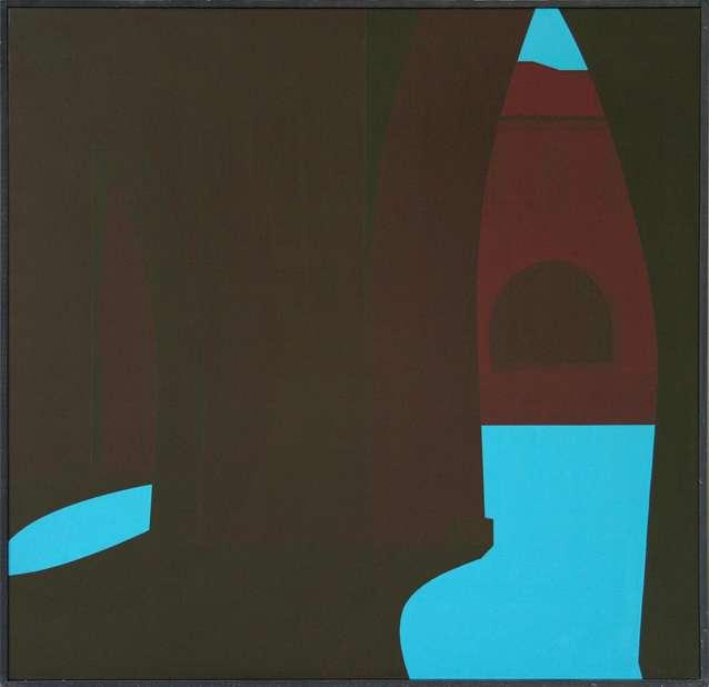 Christian Babou, Mauvezin, 1990 Acrylique sur toile97 x 100 cm / 38 2/8 x 39 3/8 inches