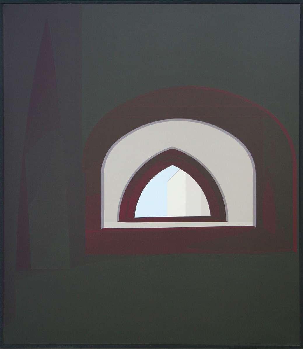 Christian Babou, Puymirol, 1988 Acrylique sur toile150 x 130 cm / 59  x 51 1/8 inches