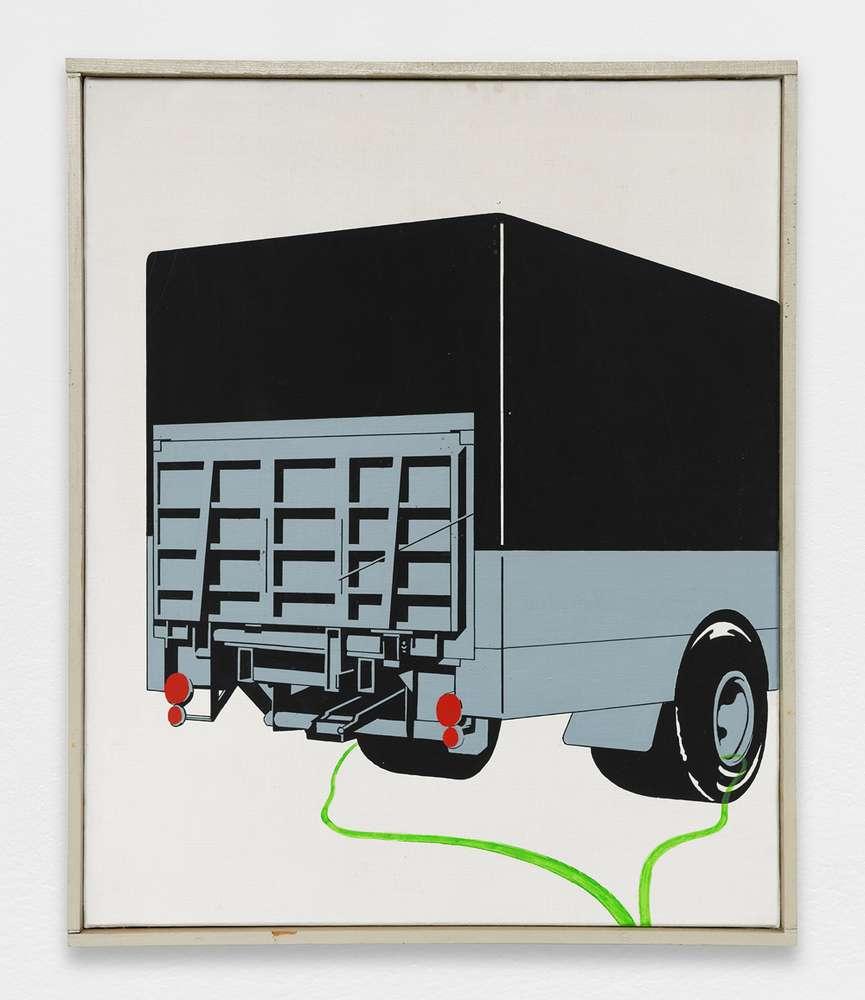 Christian Babou, Camion, 1970 Acrylique sur toile61 x 50 cm / 24  x 19 5/8 inches