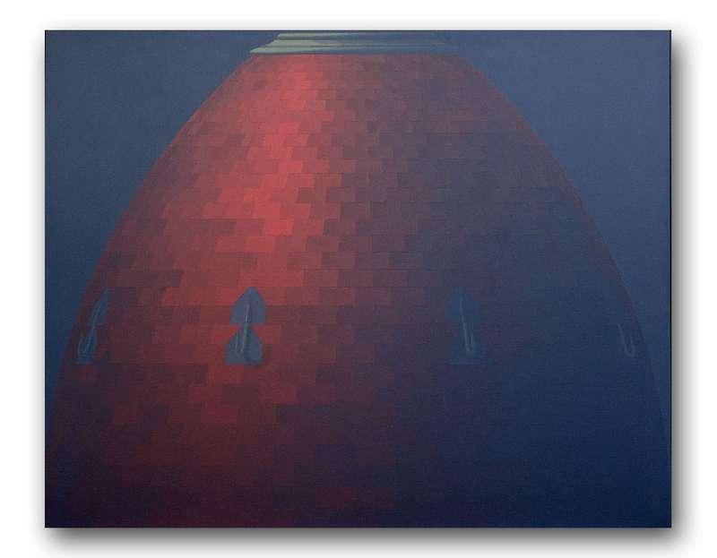Christian Babou, Arêtier sur dôme, 1978 Acrylique sur toile130 x 162 cm / 51 1/8 x 63 6/8 inches
