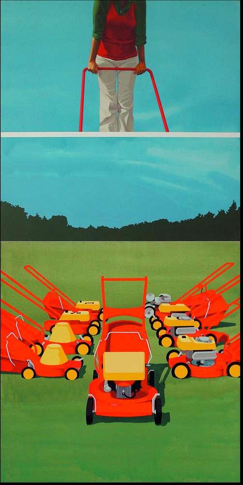 Christian Babou, Enfin libre, 1973 Acrylique sur toile200 x 100 cm / 78 6/8 x 39 3/8 inches