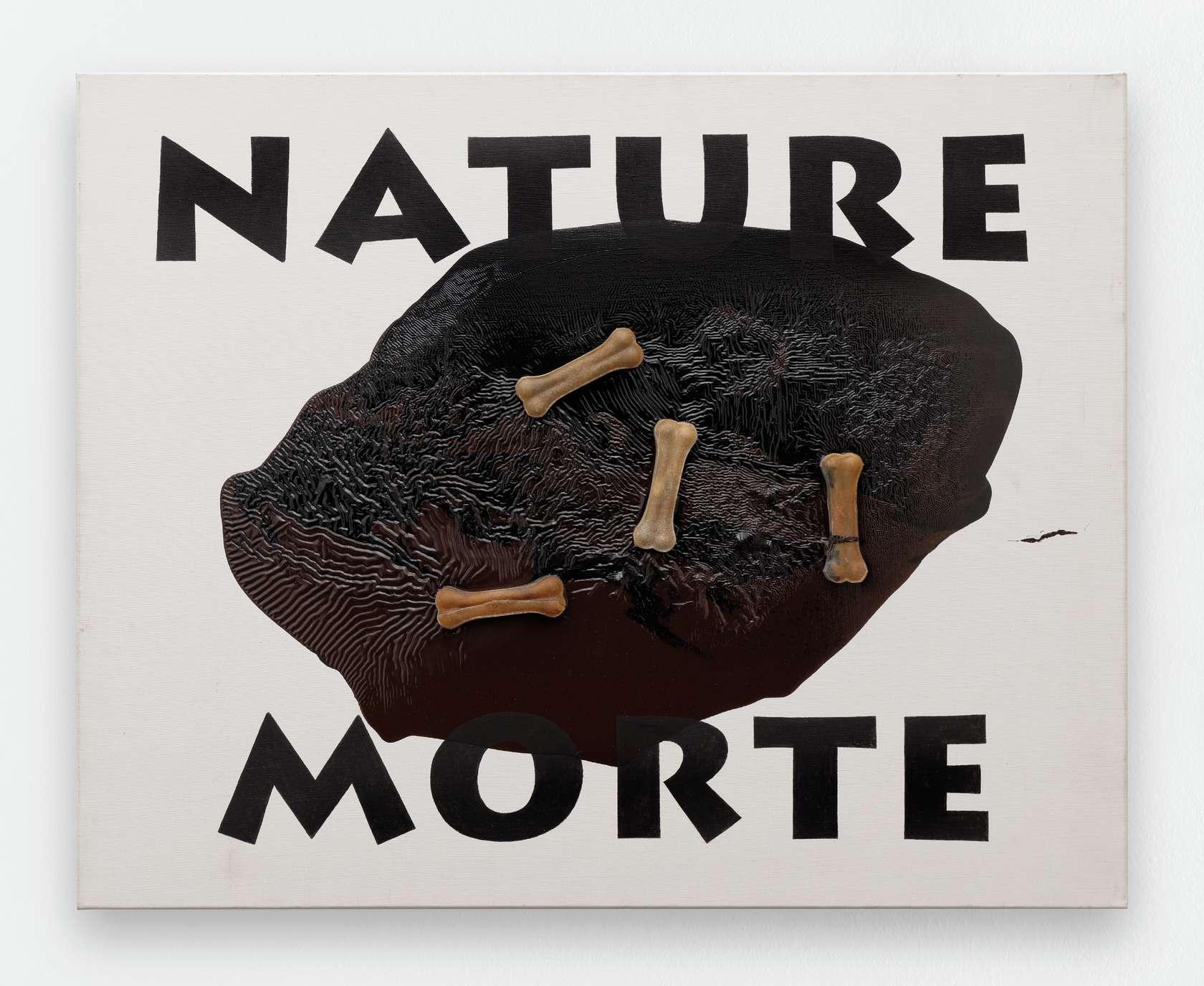 Ernest T., Nature morte, 2014 Peinture glycéro et figurines en plastiques sur toile 73 x 92cm / 28 6/8 x 36 2/8inches