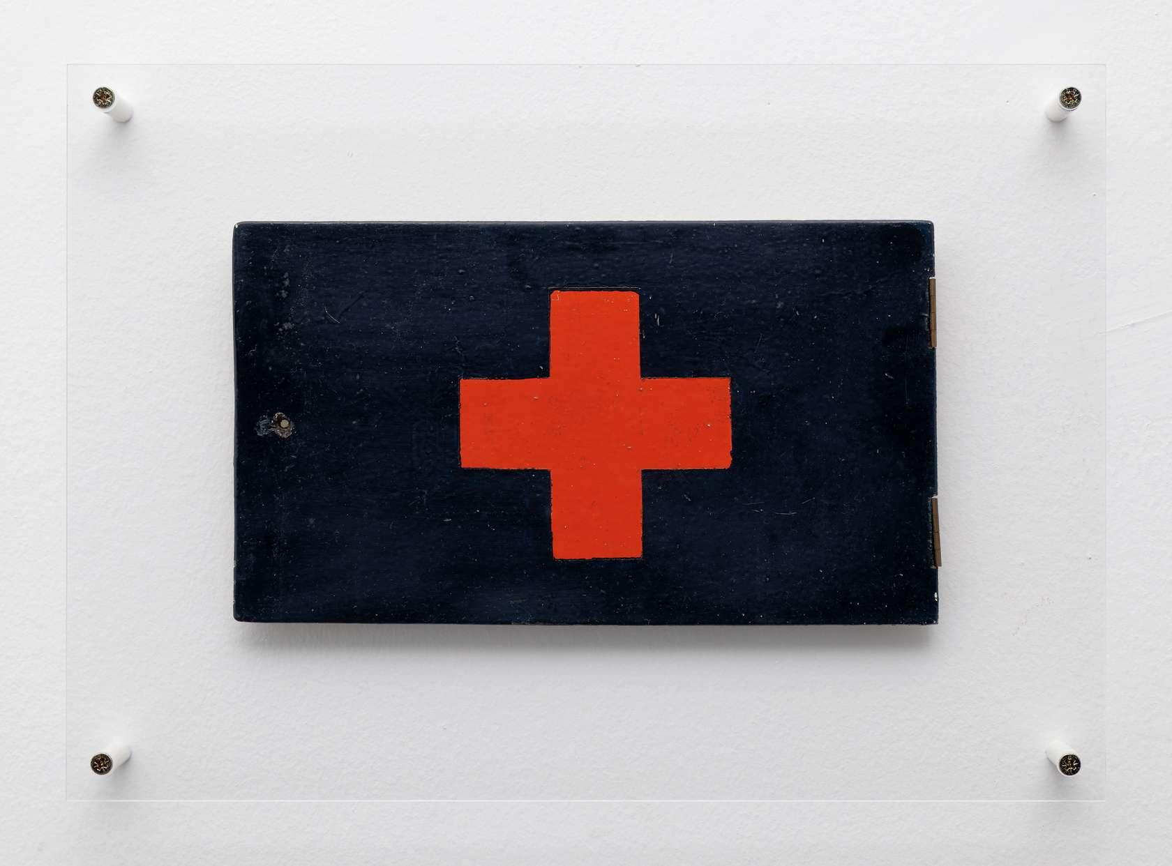 Ernest T., Infirmerie, 1972 Peinture laquée sur bois18 x 32 cm / 7 1/8 x 12 5/8 inches
