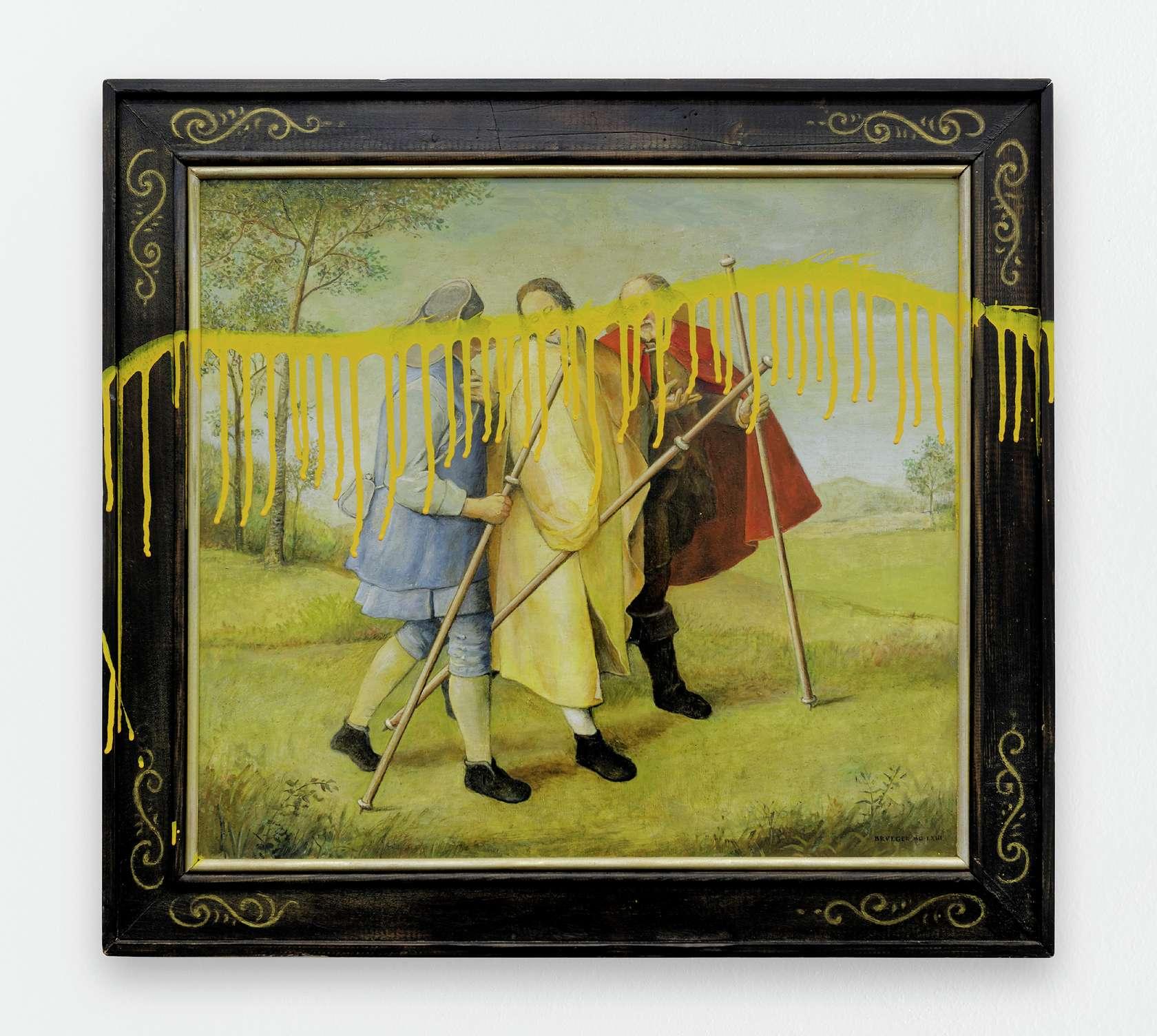 Ernest T., Brueghel vandalisé, 1997 Huile et laque sur bois59.8 x 66 cm / 23 1/2 x 26  inches