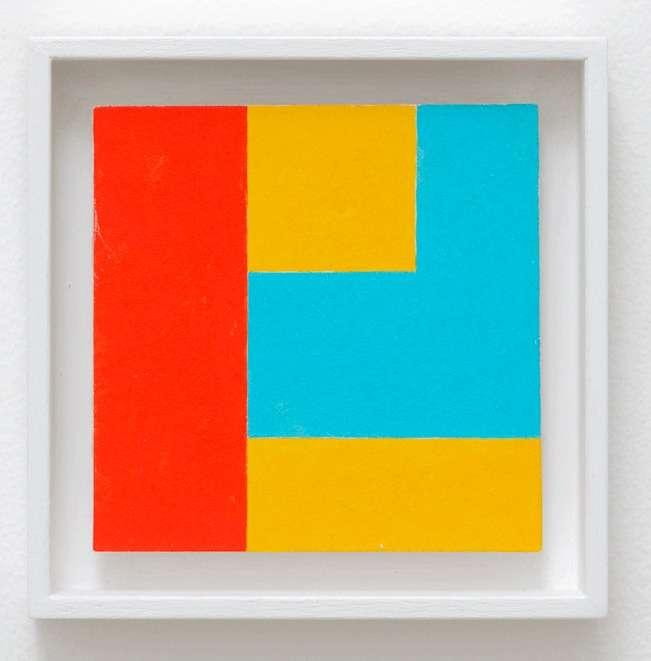 Ernest T., Peinture artistique 4-3, 2009 Acrylique sur carton12 × 12 cm / 4 6/8 × 4 6/8 in.