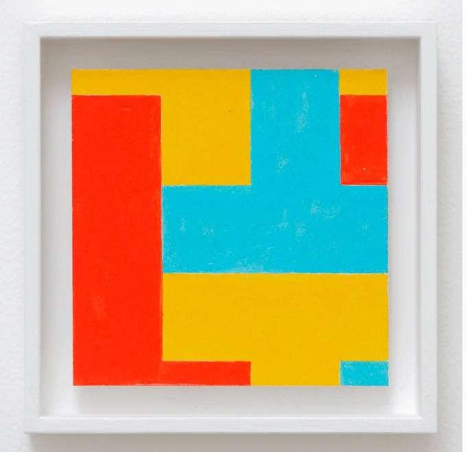 Ernest T., Peinture artistique 7-1, 2009 Acrylique sur carton12 × 12 cm / 4 6/8 × 4 6/8 in.